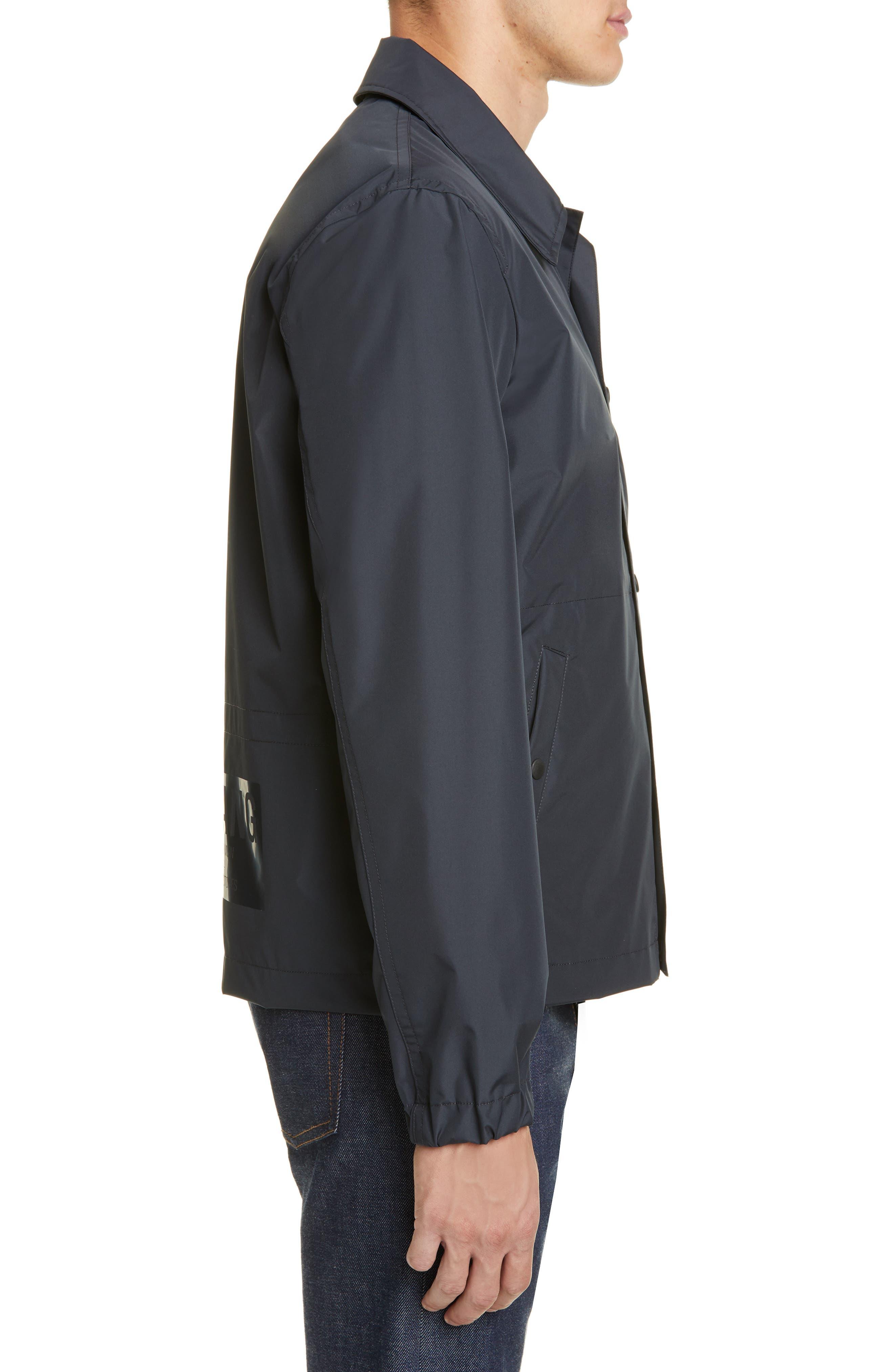 HELMUT LANG, Stadium Coach's Jacket, Alternate thumbnail 3, color, BLACK