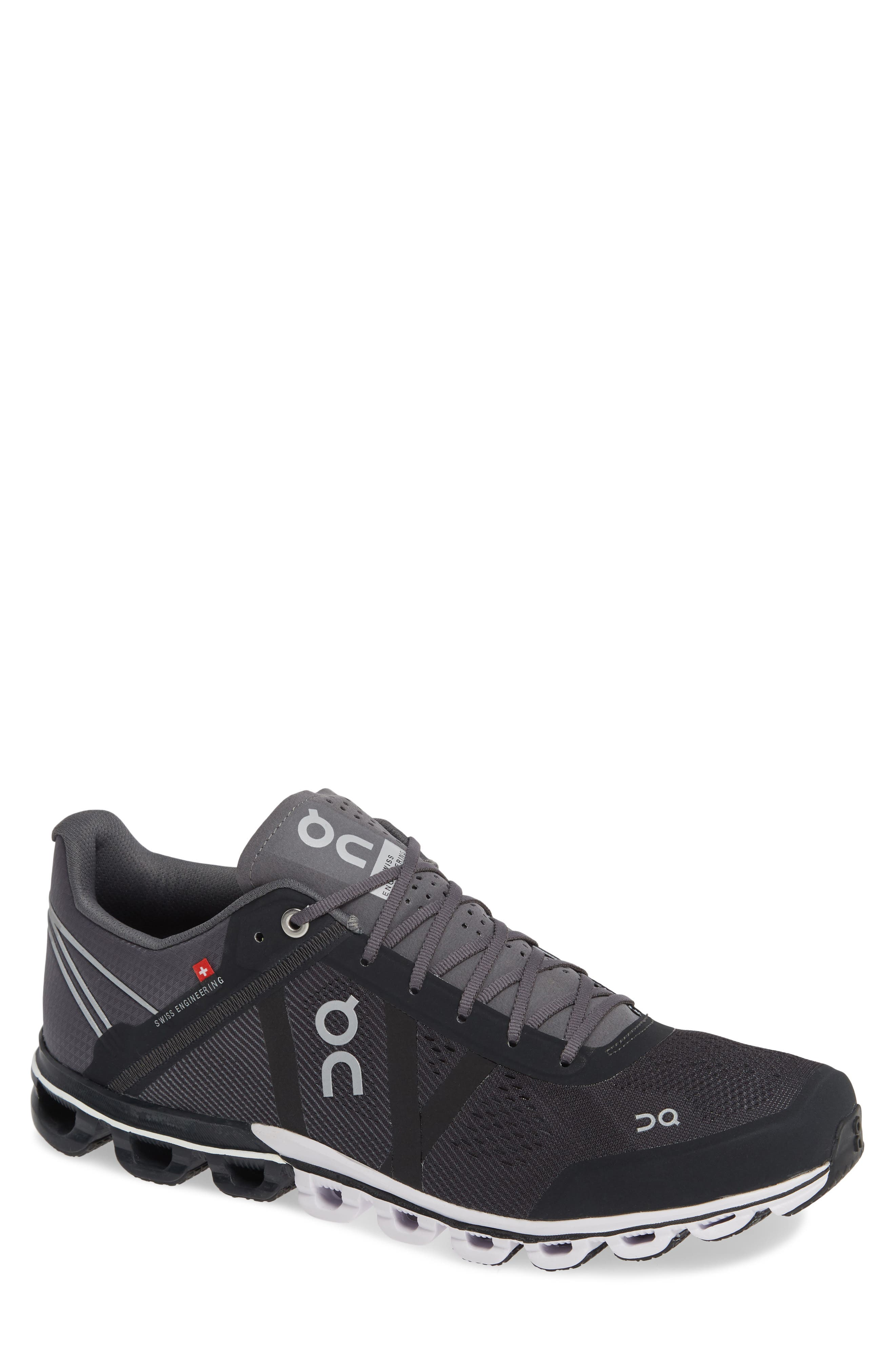 ON RUNNING Cloudflow Running Shoe, Main, color, BLACK/ CEMENT MESH