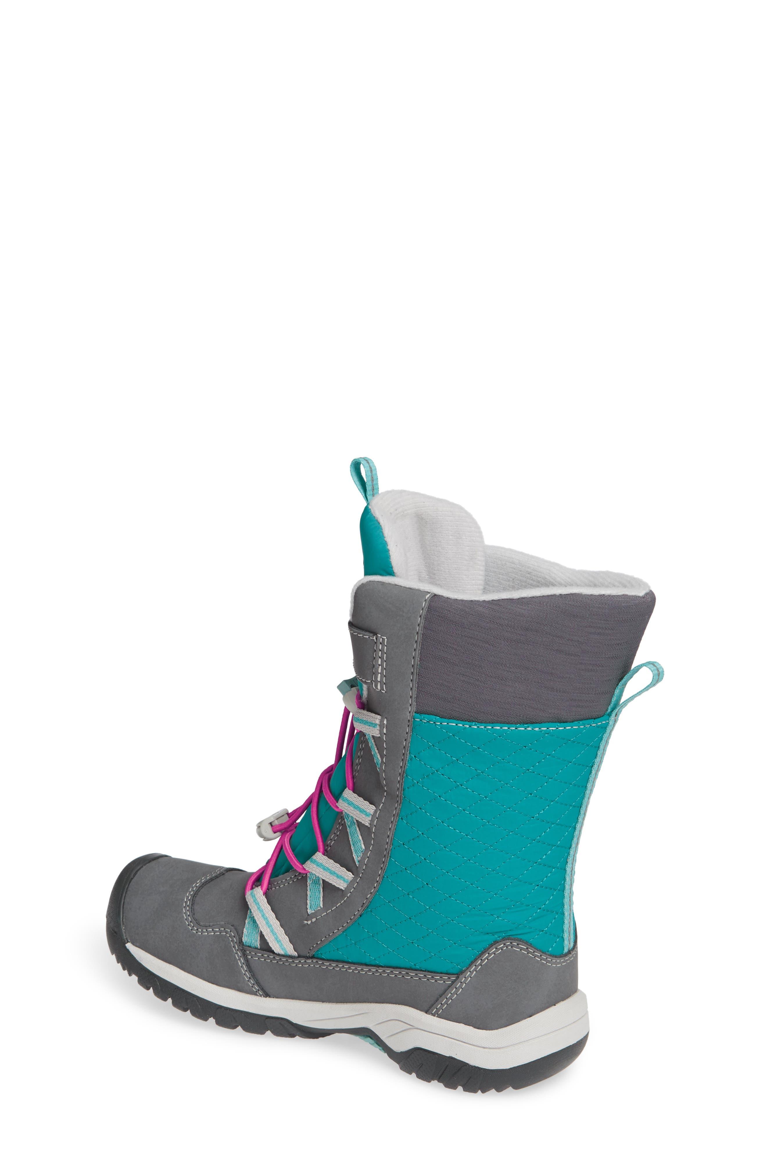KEEN, Hoodoo Waterproof Insulated Boot, Alternate thumbnail 2, color, STEEL GREY/ CABARET