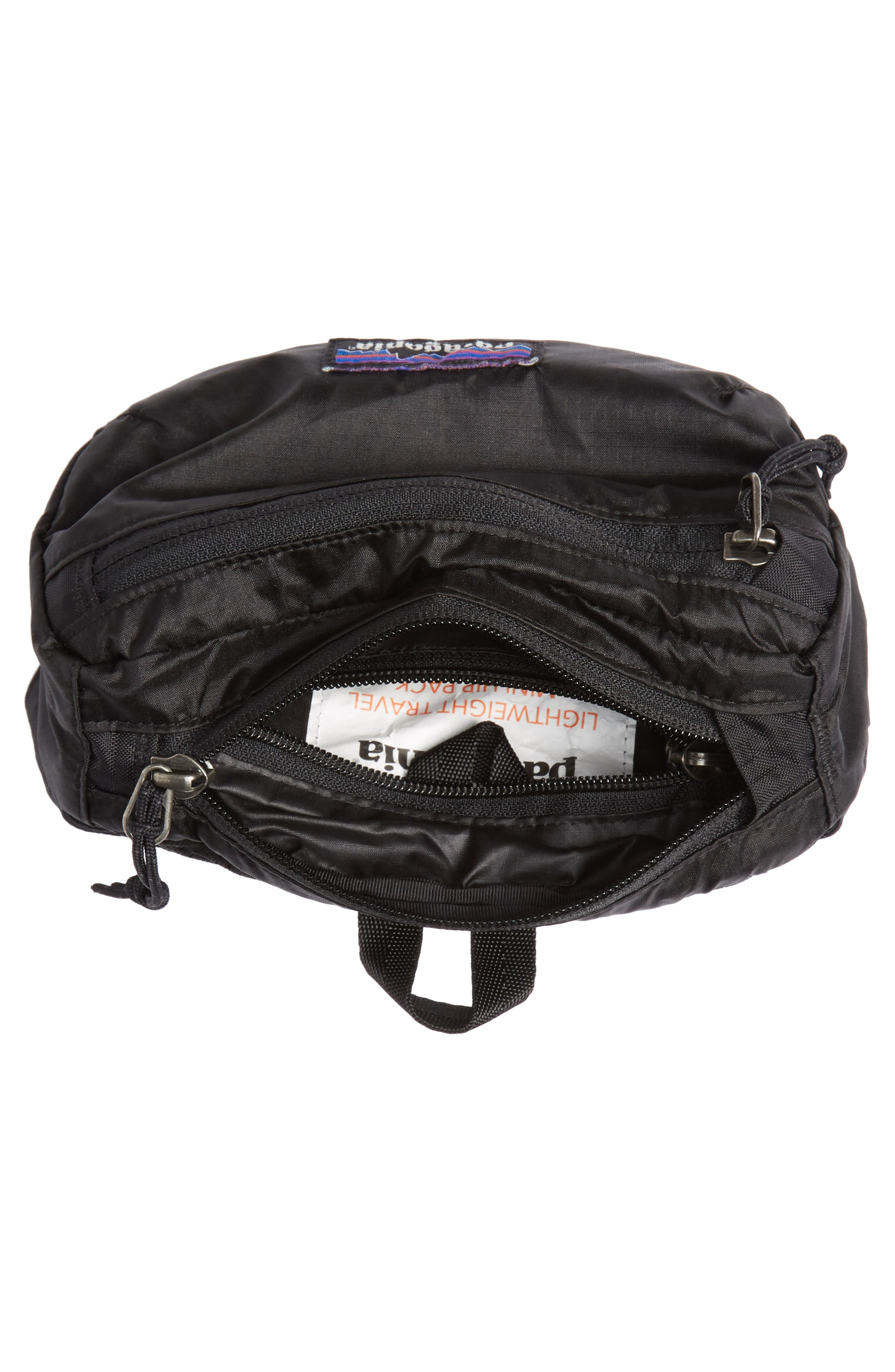 PATAGONIA, Lightweight Mini Hip Pack, Alternate thumbnail 6, color, BLACK