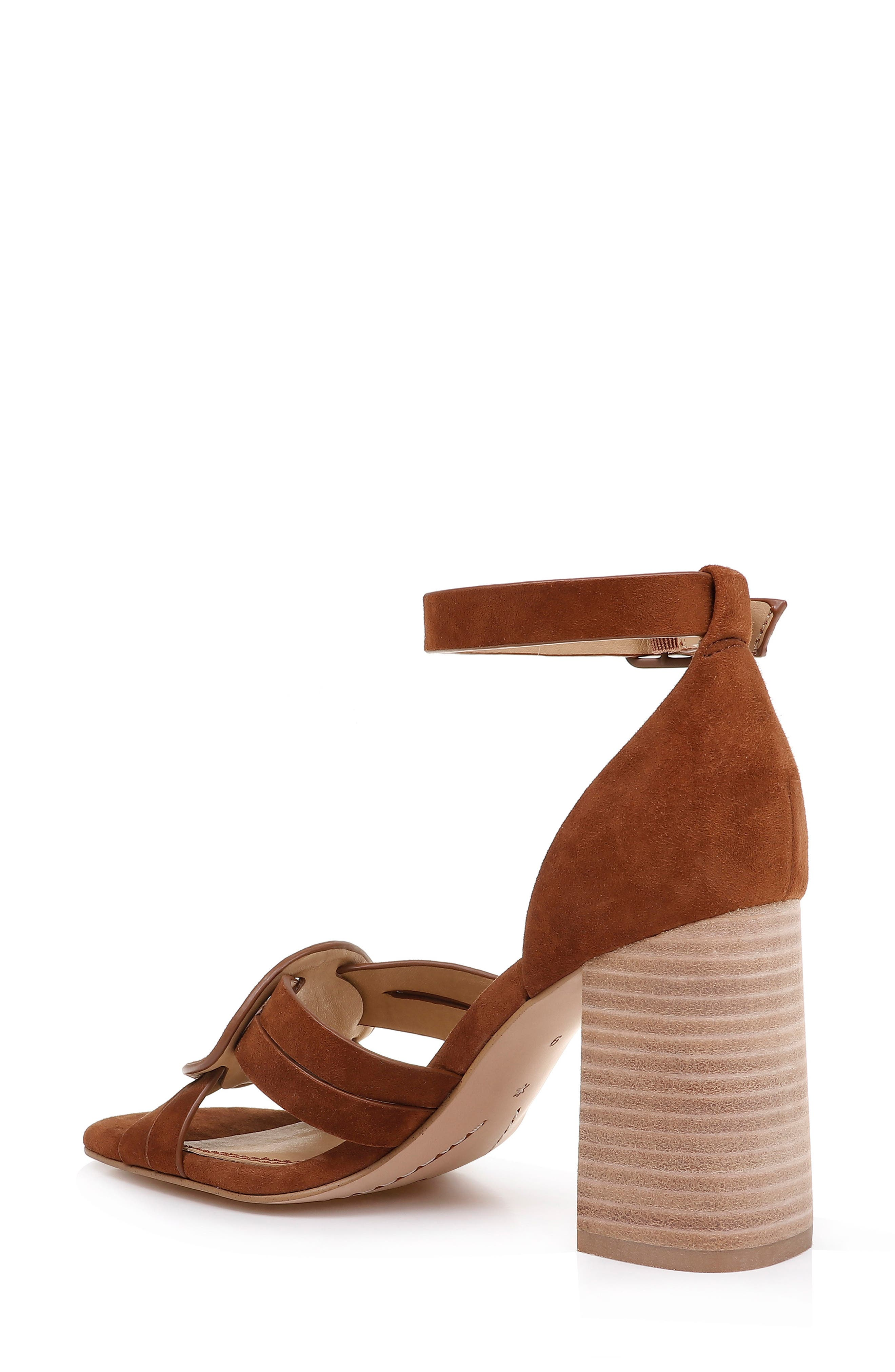 SPLENDID, Tallie Ankle Strap Sandal, Alternate thumbnail 2, color, CHESTNUT SUEDE