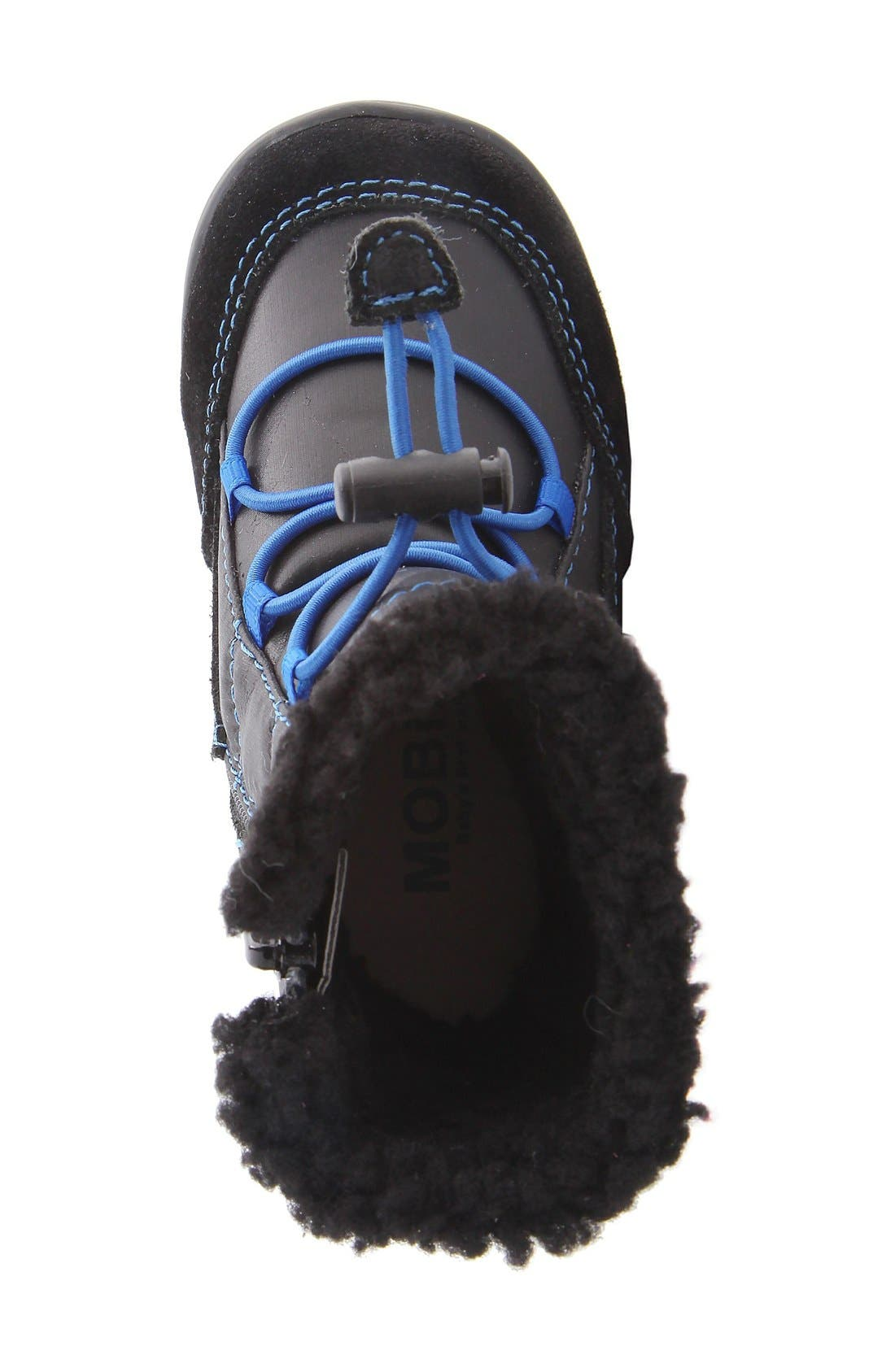 MOBILITY, Nina 'Yolie' Lace-Up Boot, Alternate thumbnail 6, color, BLACK