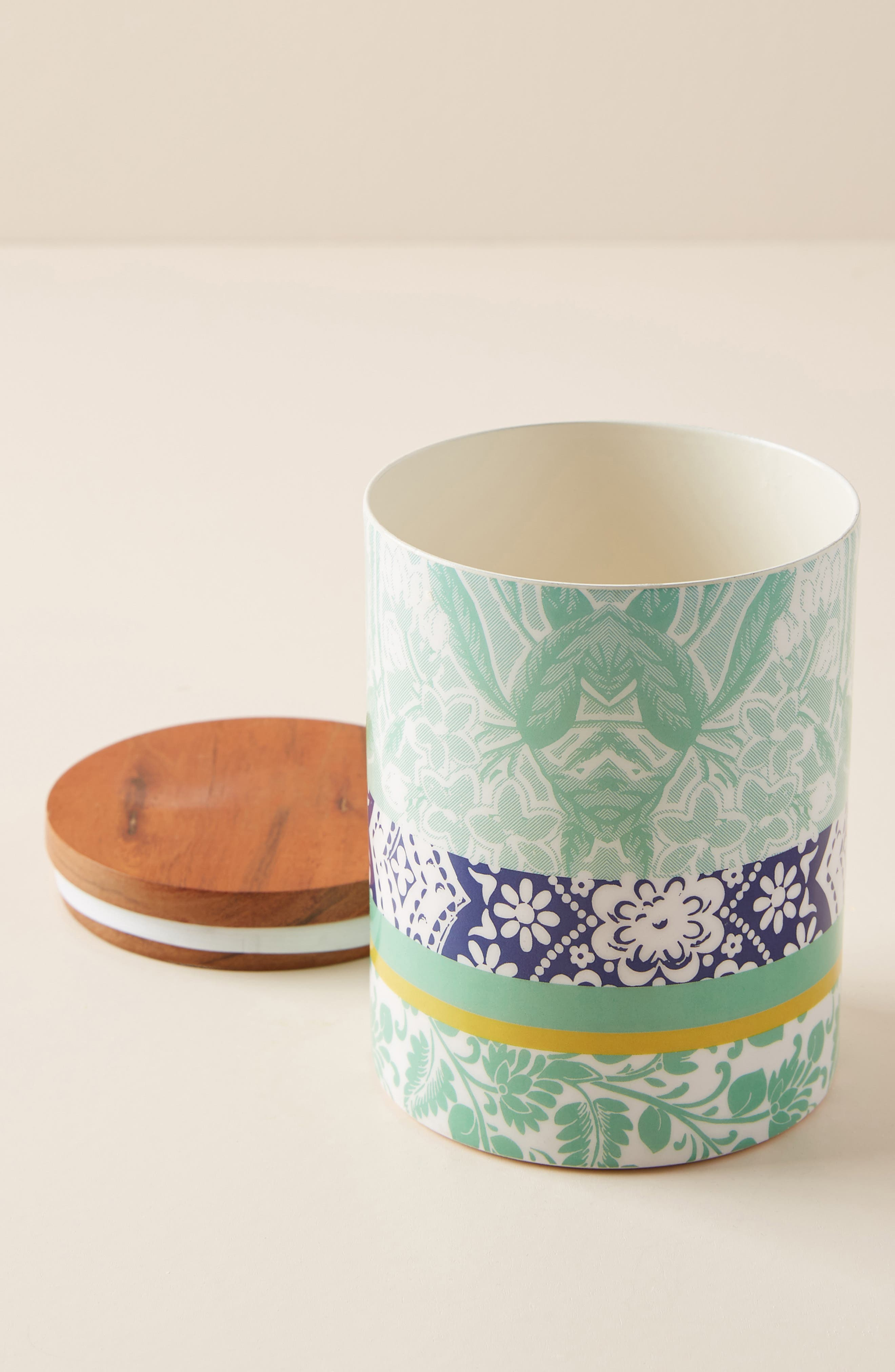 ANTHROPOLOGIE, Jacquard Canister, Main thumbnail 1, color, 440