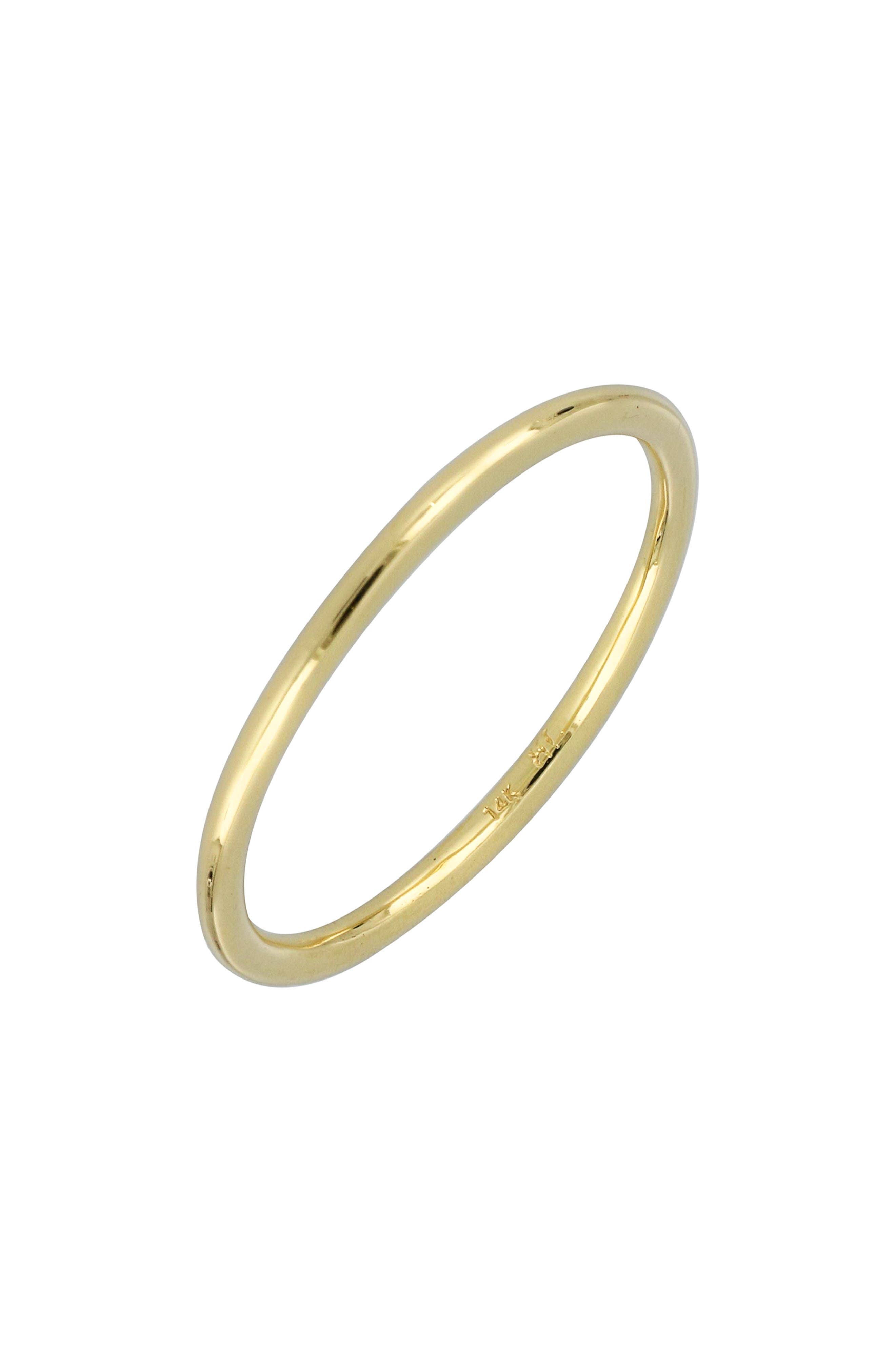 BONY LEVY Wedding Band Ring, 1.36mm, Main, color, YELLOW GOLD