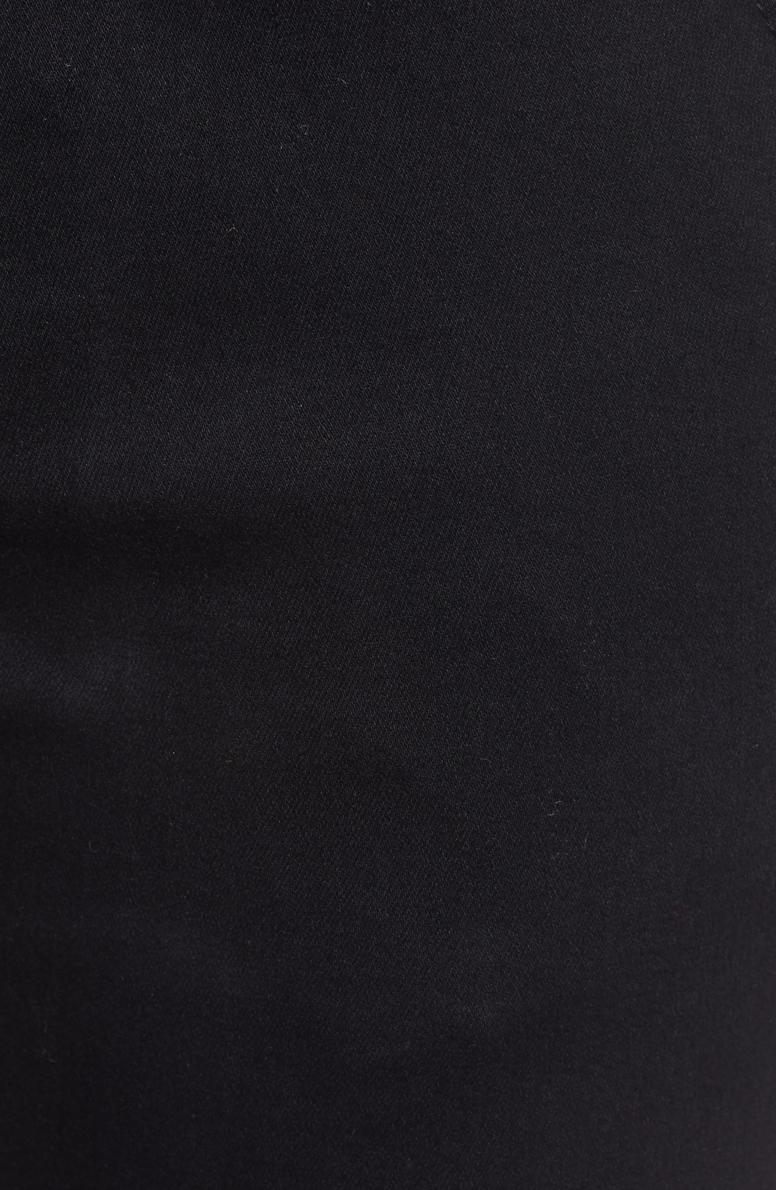 PROSPERITY DENIM, Paperbag Waist Skinny Jeans, Alternate thumbnail 6, color, BLACK