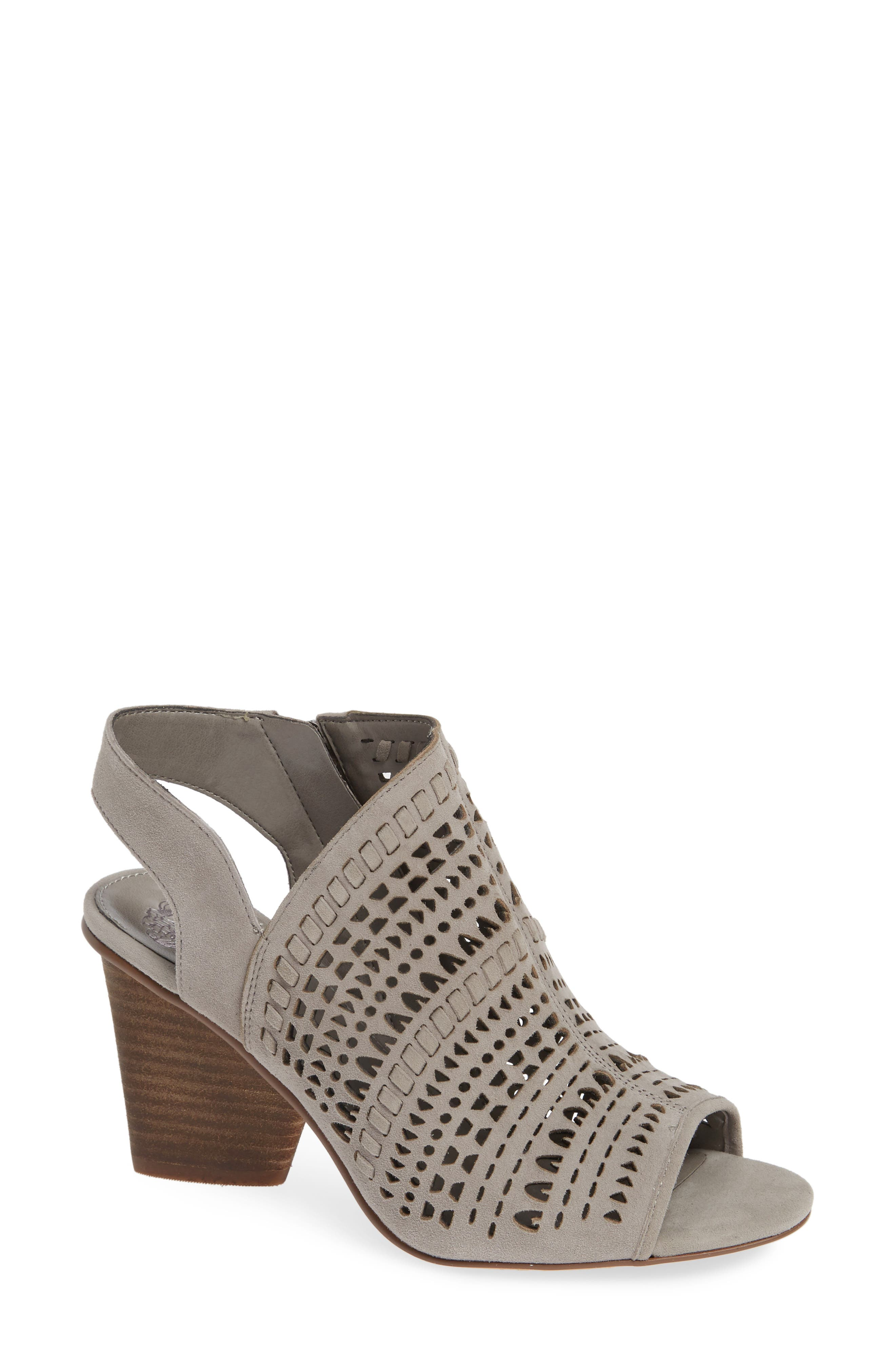 Vince Camuto Derechie Perforated Shield Sandal, Grey