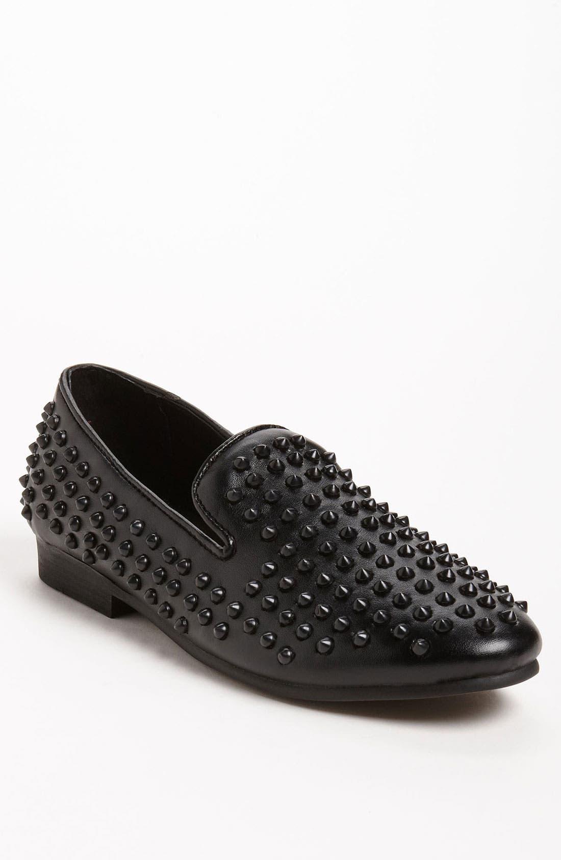 STEVE MADDEN 'Jagggrr' Studded Loafer, Main, color, 012