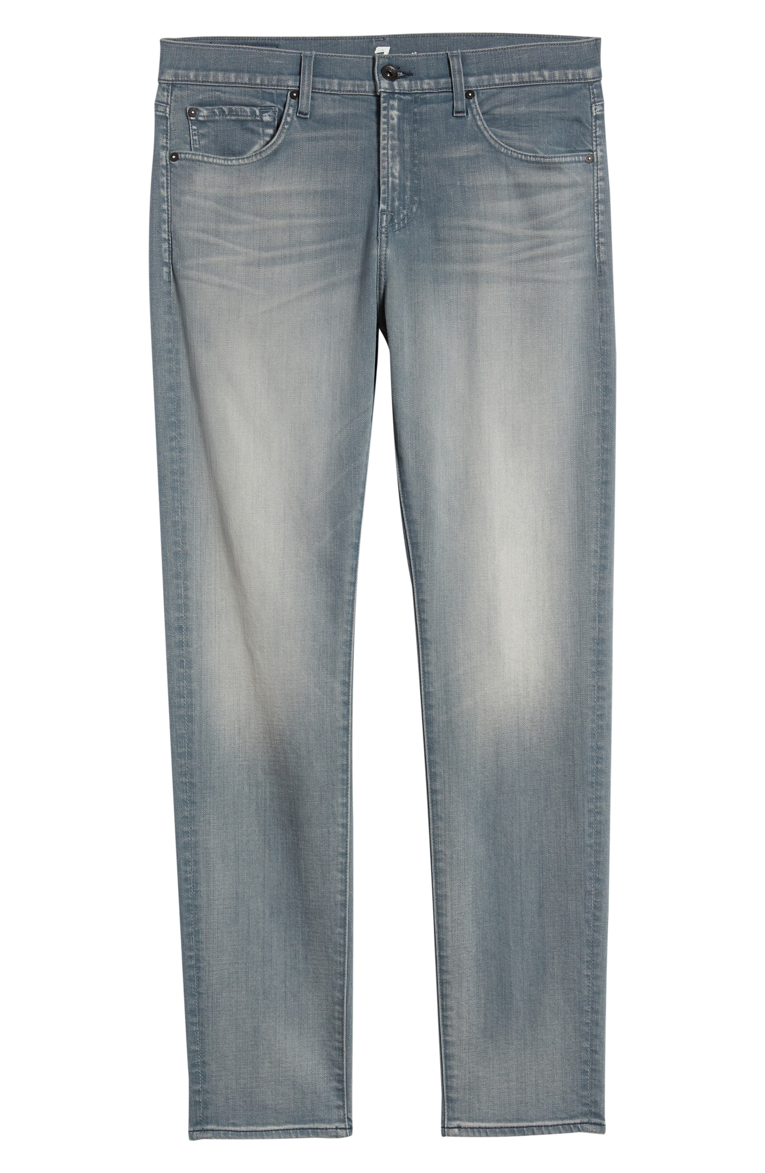 7 FOR ALL MANKIND<SUP>®</SUP>, Ryley Skinny Fit Jeans, Alternate thumbnail 6, color, AEGEAN