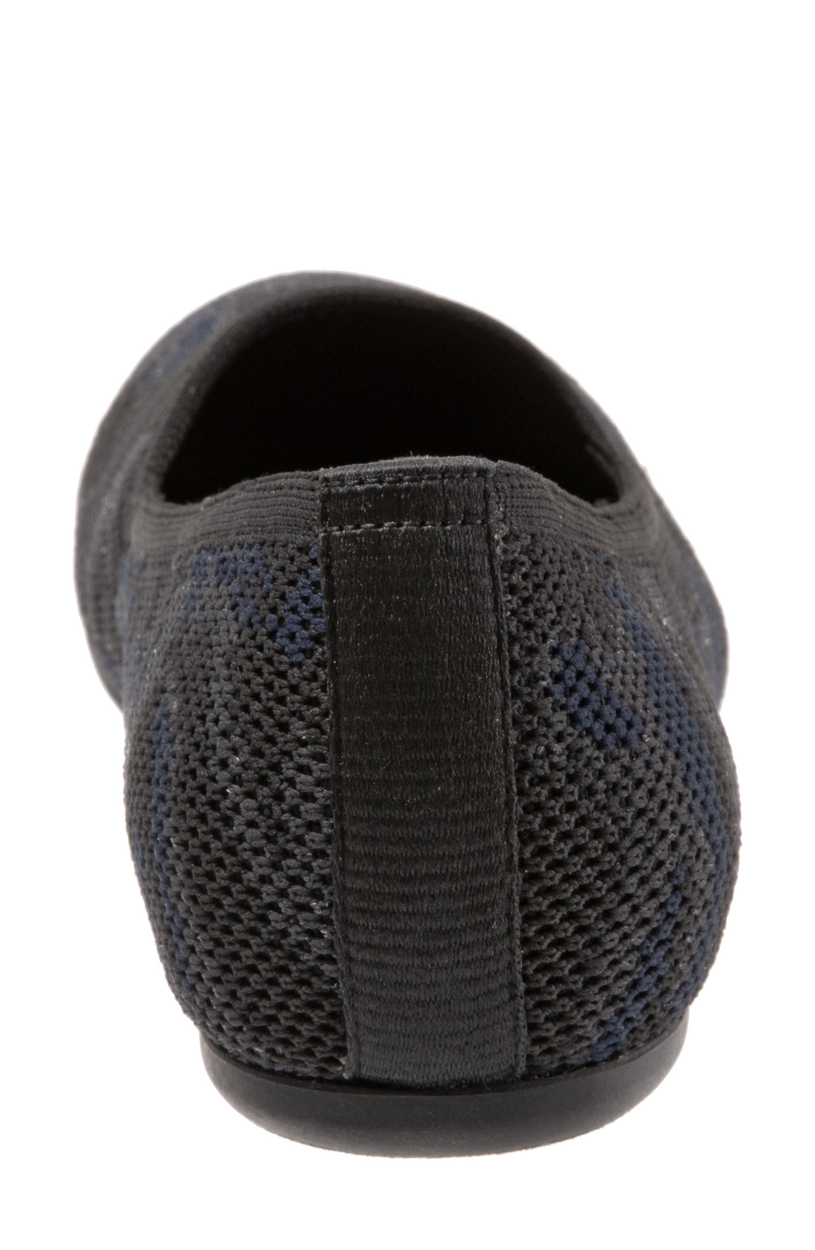 SOFTWALK<SUP>®</SUP>, Sicily Knit Flat, Alternate thumbnail 7, color, BLACK/ GREY FABRIC