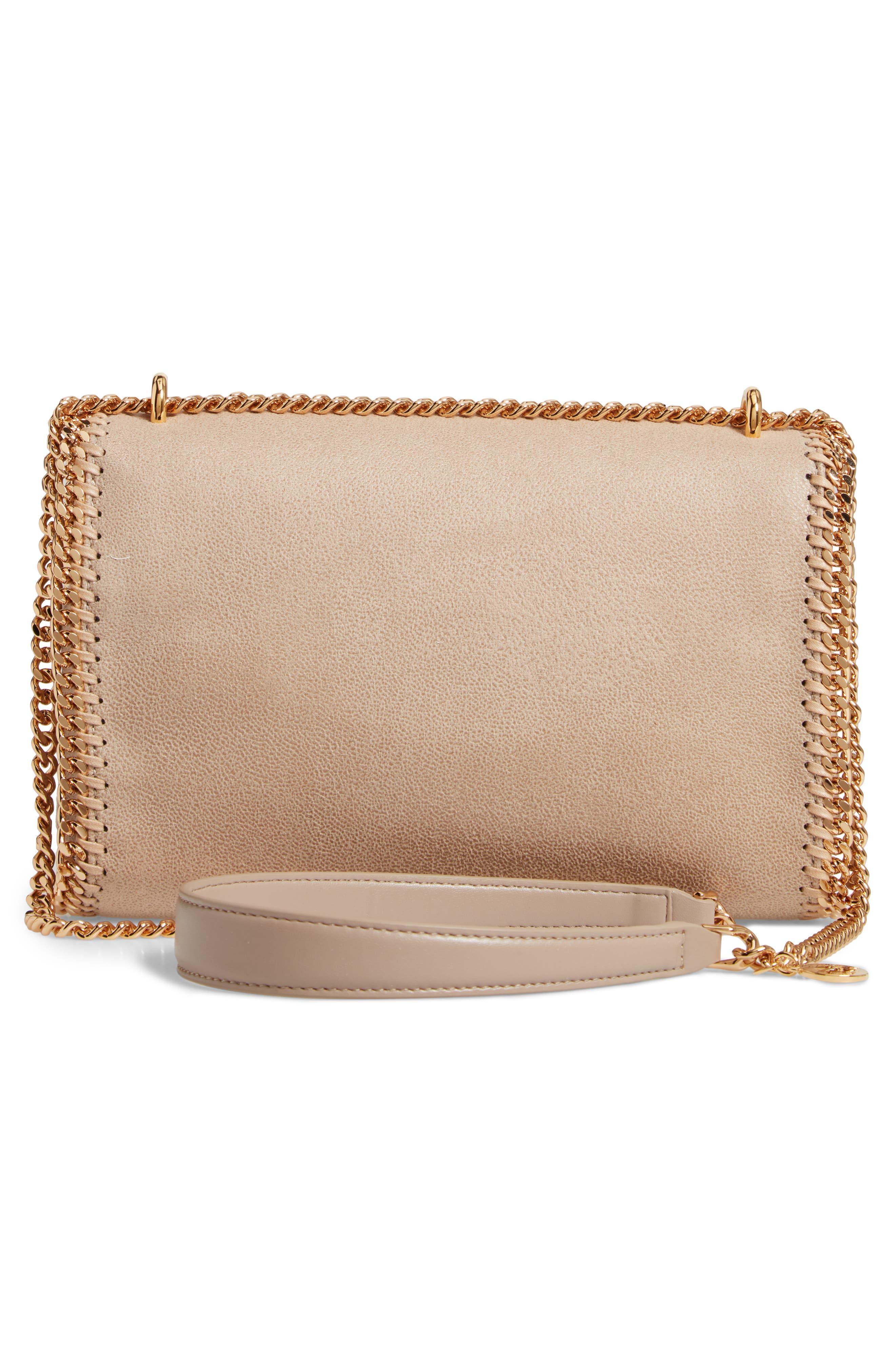 STELLA MCCARTNEY, Falabella Shaggy Deer Faux Leather Shoulder Bag, Alternate thumbnail 4, color, CLOTTED CREAM