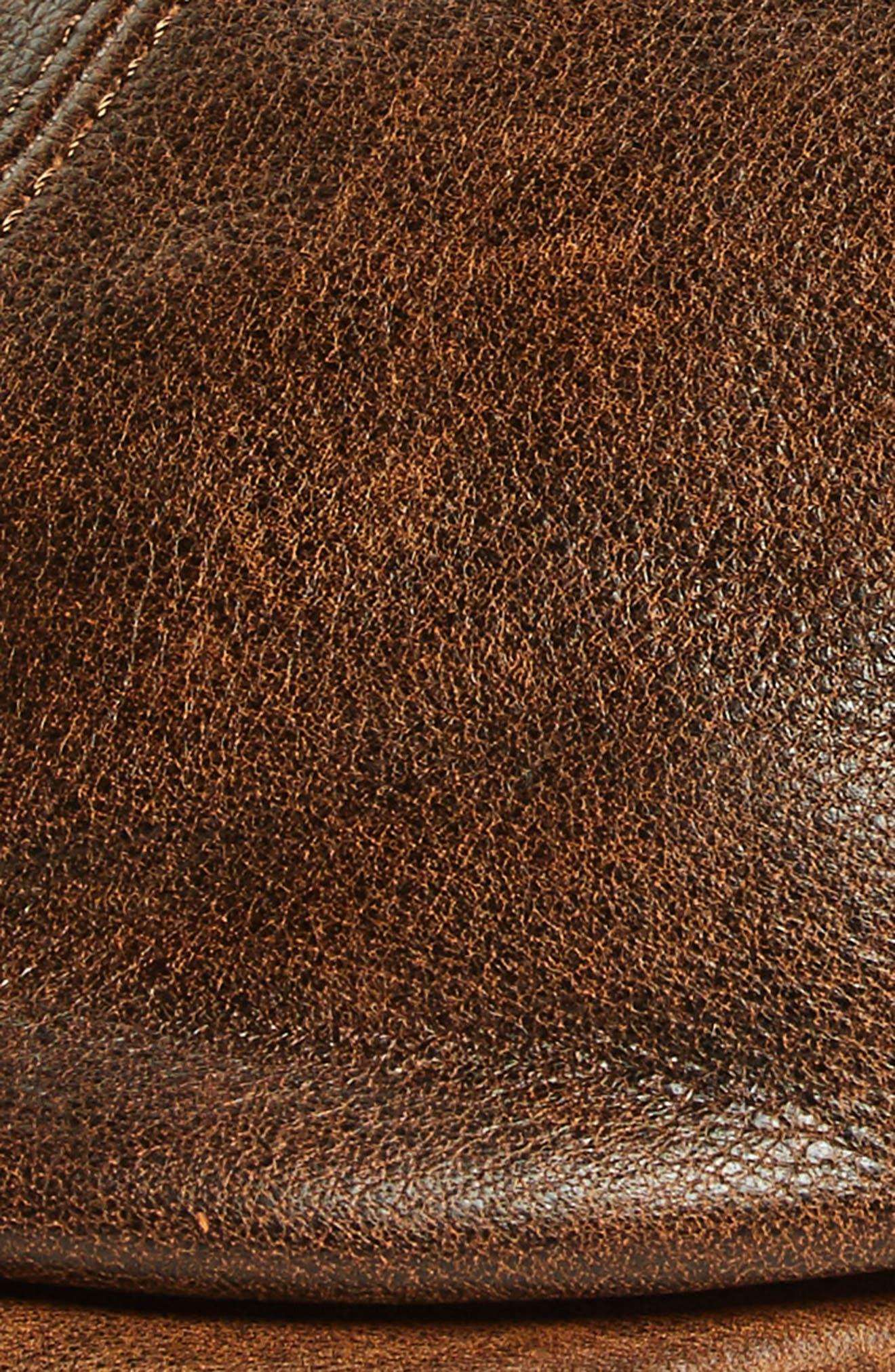 GOORIN BROTHERS, Fortunato Liberati Leather Driving Cap, Alternate thumbnail 2, color, 201
