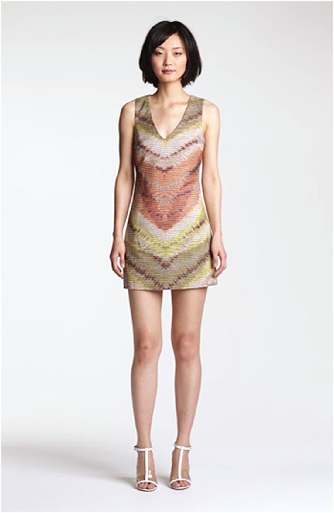 TRACY REESE, Zigzag Raffia Shift Dress, Alternate thumbnail 2, color, 798