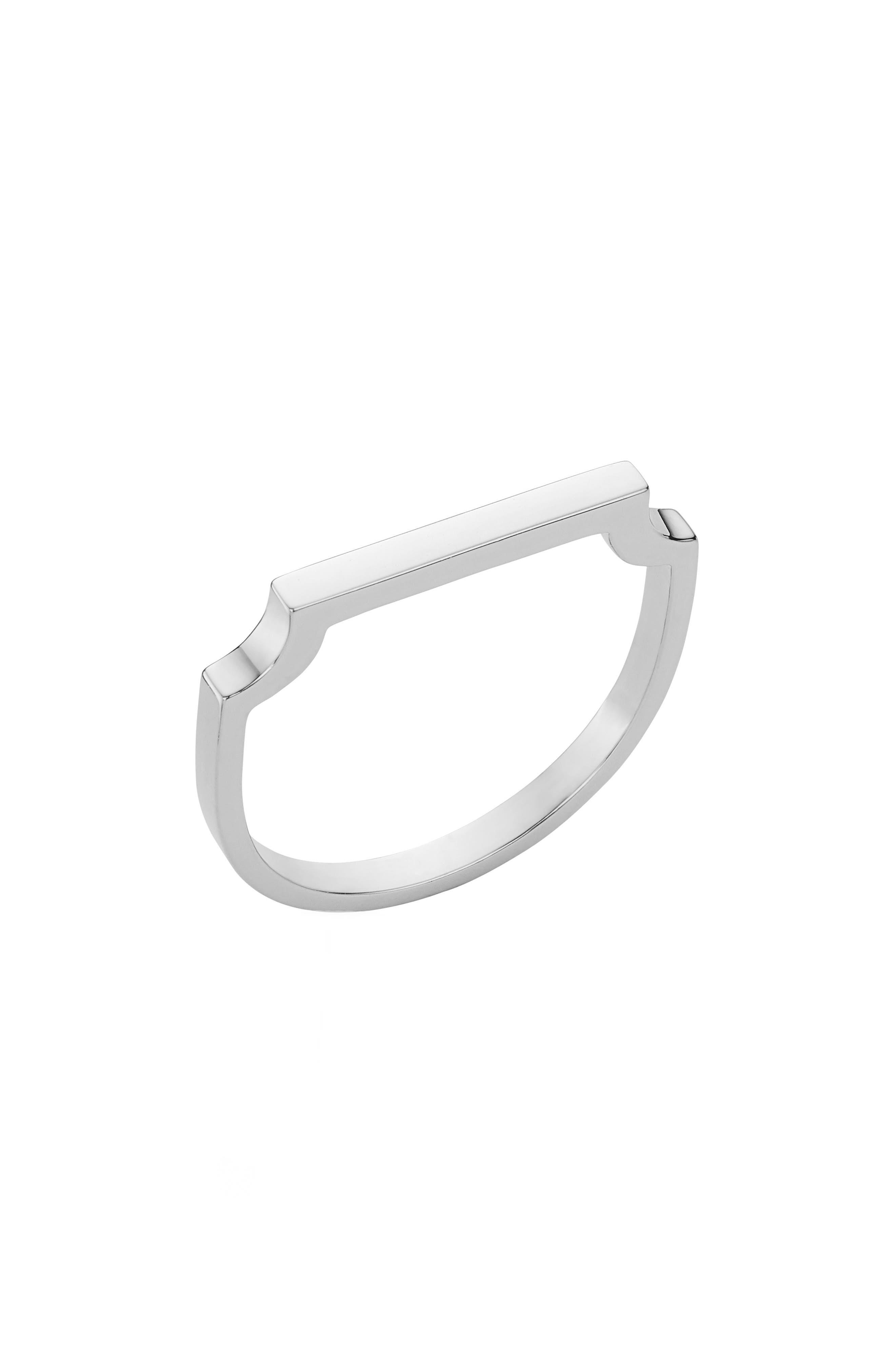MONICA VINADER, Signature Thin Ring, Main thumbnail 1, color, SILVER