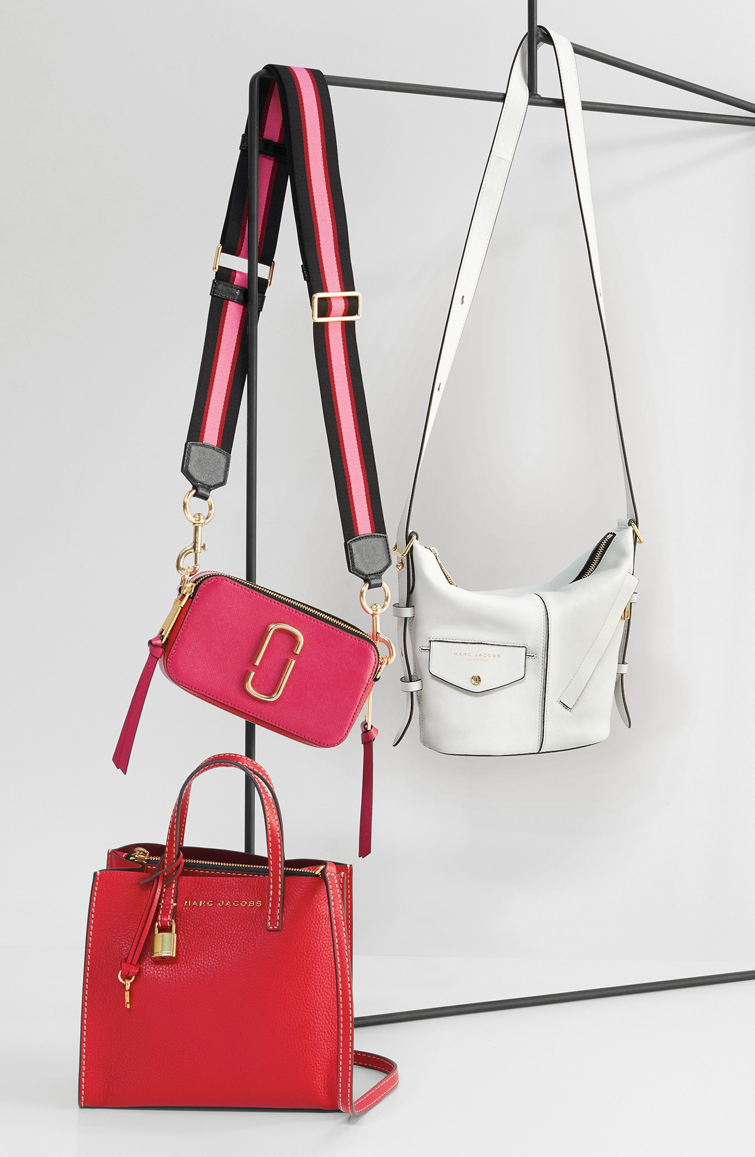MARC JACOBS, Snapshot Crossbody Bag, Alternate thumbnail 11, color, BABY PINK/ RED