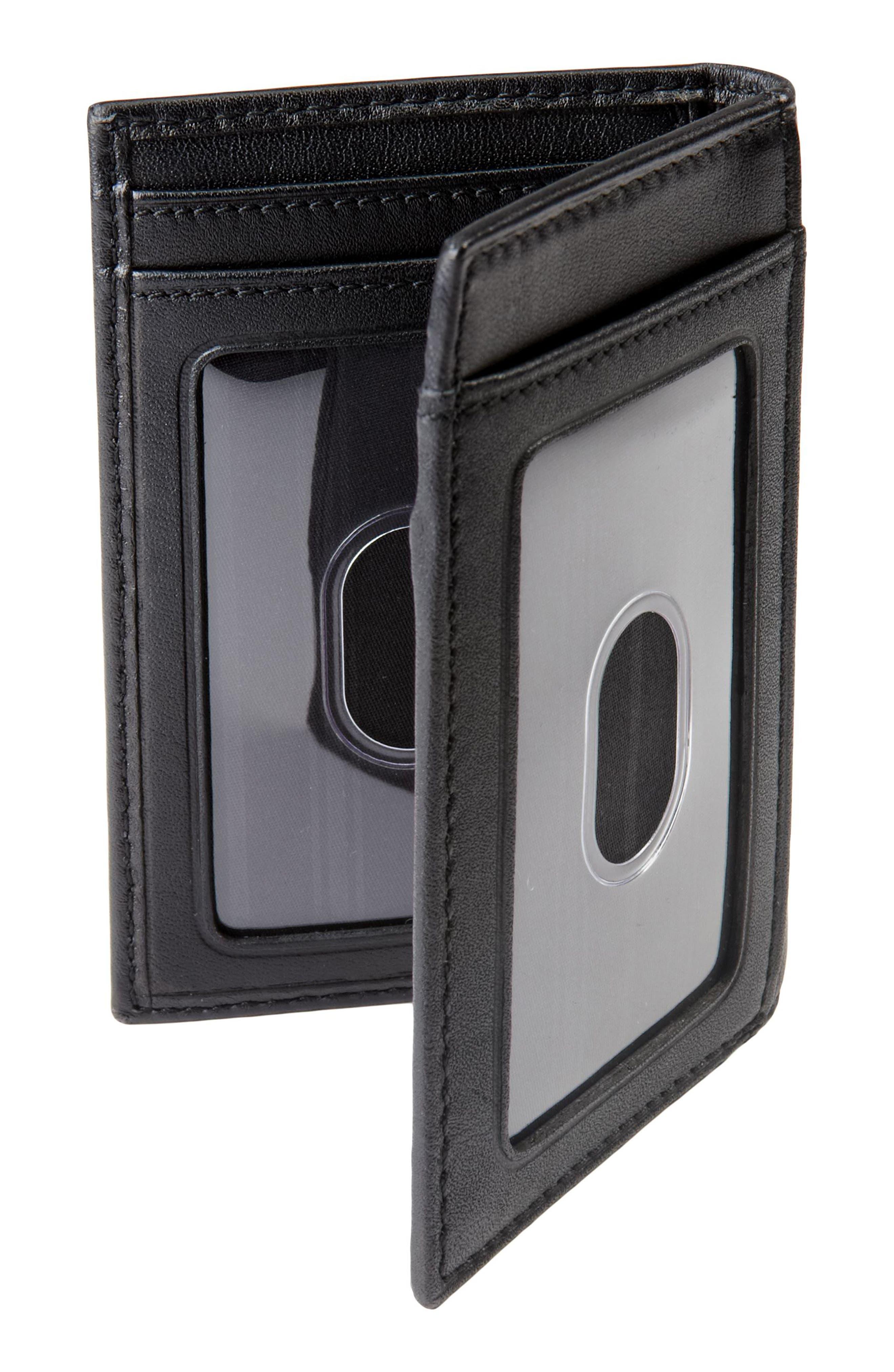 TUMI, Delta - ID Lock<sup>™</sup> Shielded Multi Window Card Case, Alternate thumbnail 3, color, BLACK