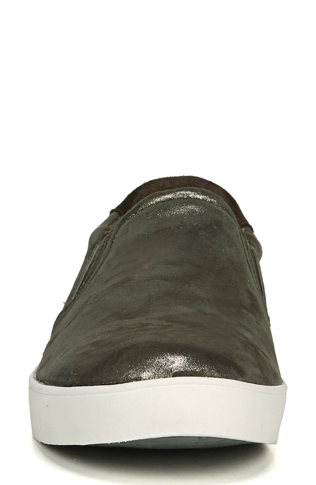 DR. SCHOLL'S, Original Collection 'Scout' Slip On Sneaker, Alternate thumbnail 4, color, GREEN LEATHER