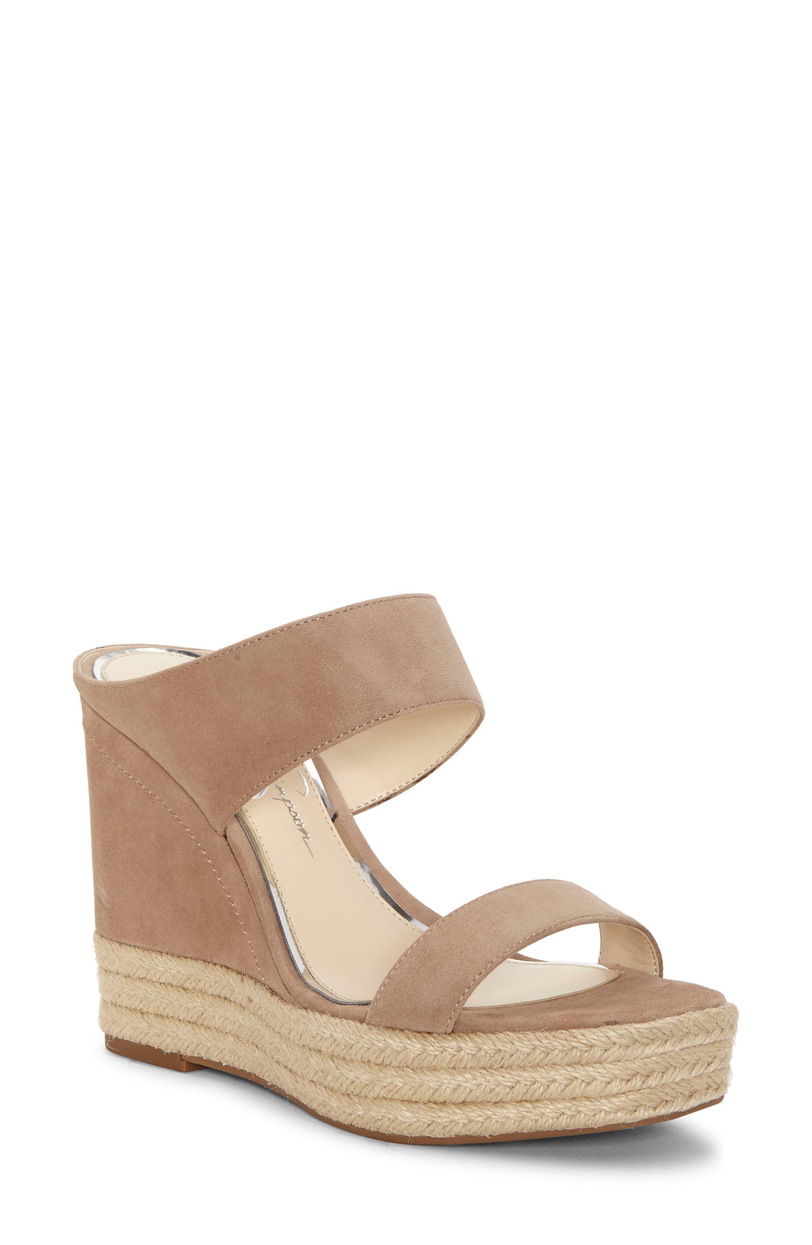 Jessica Simpson Siera Espadrille Wedge Slide Sandal, Brown