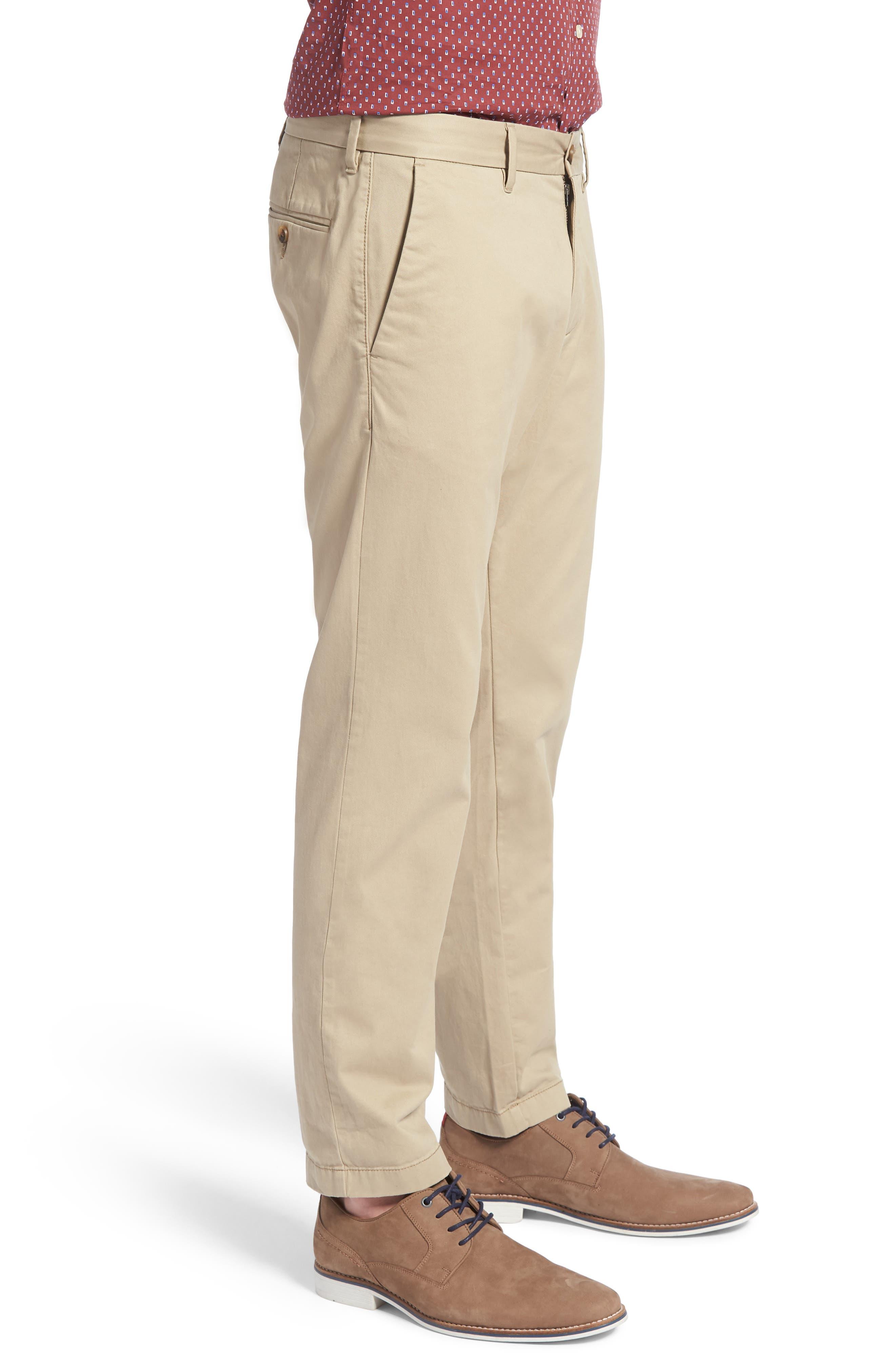 1901, Ballard Slim Fit Stretch Chino Pants, Alternate thumbnail 4, color, TAN BURROW