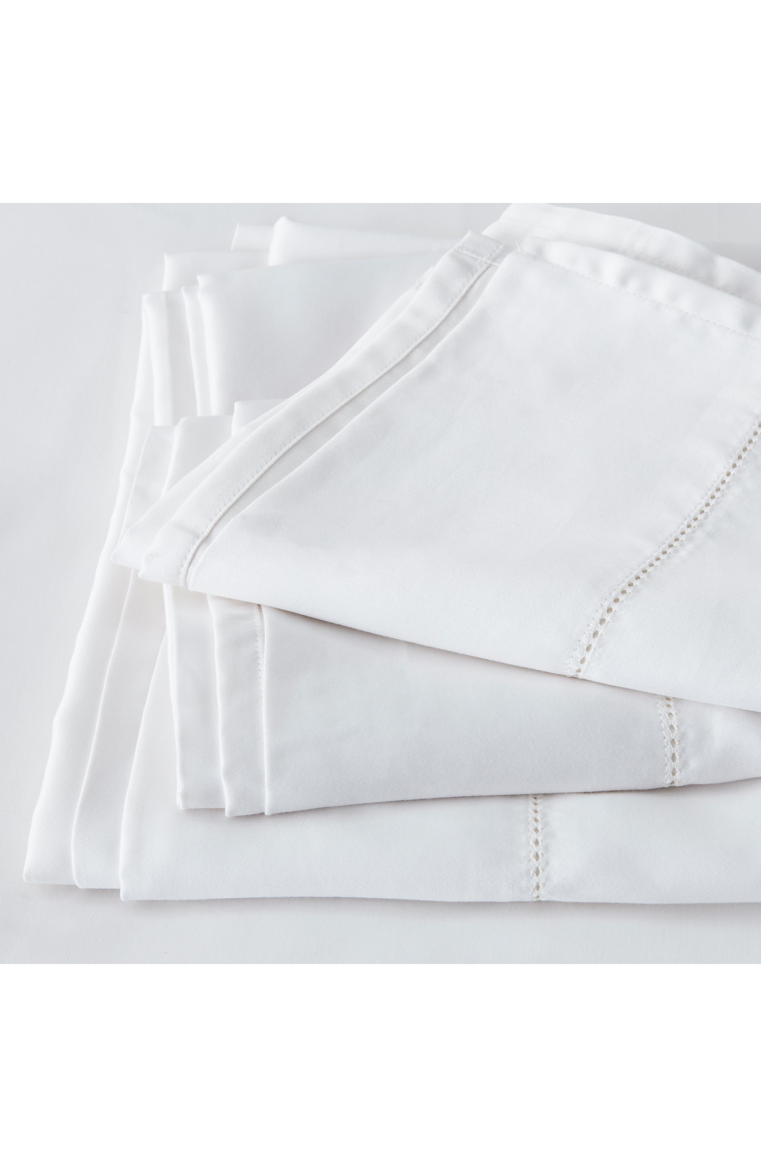 THE WHITE COMPANY Connaught Flat Sheet, Main, color, CHALK