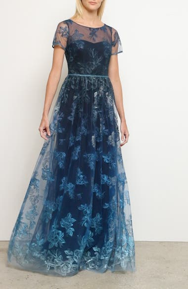 Ombré Embroidered Gown, video thumbnail