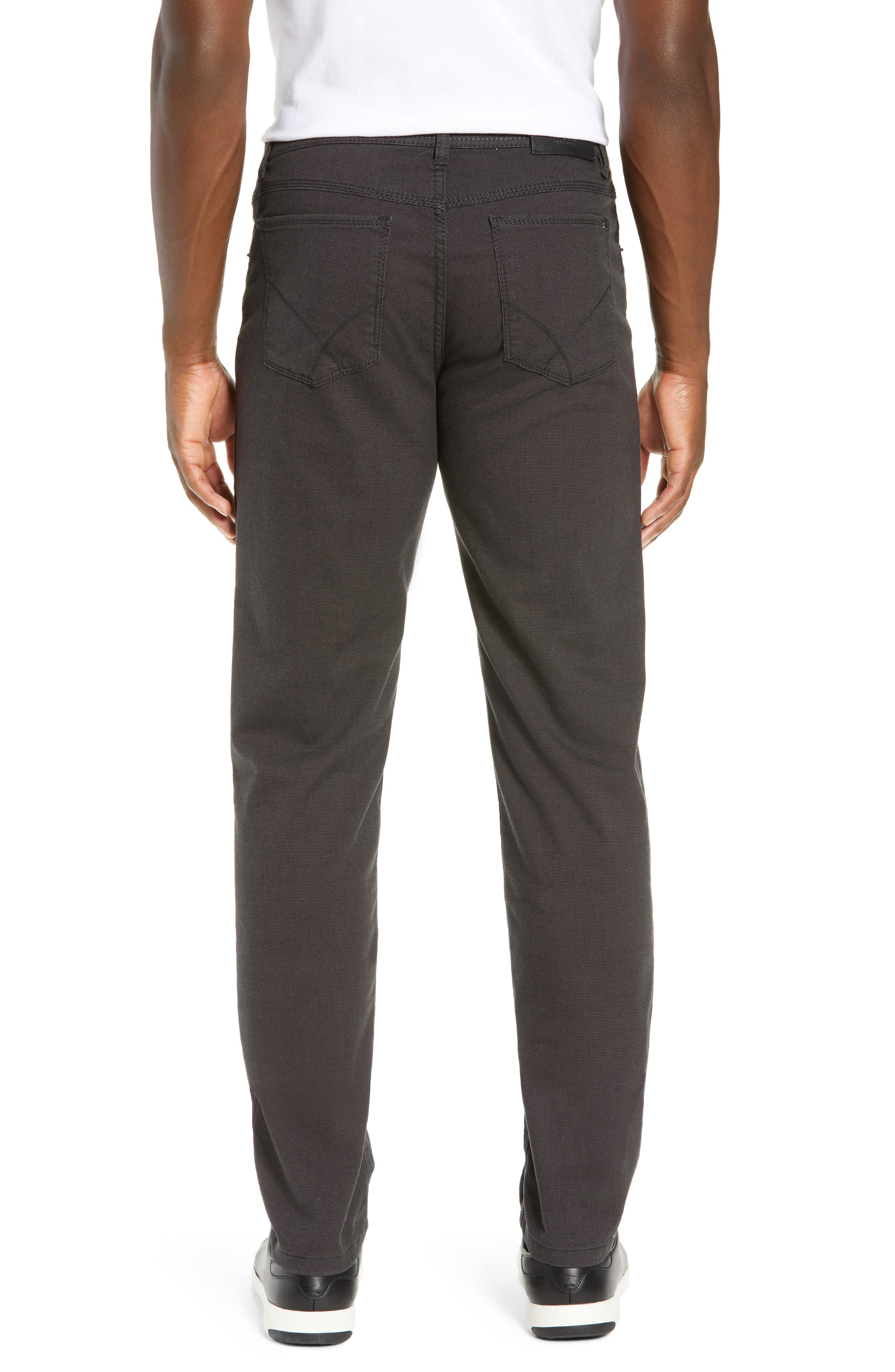 BRAX, Woolook Classic Fit Flat Front Pants, Alternate thumbnail 2, color, ANTHRA