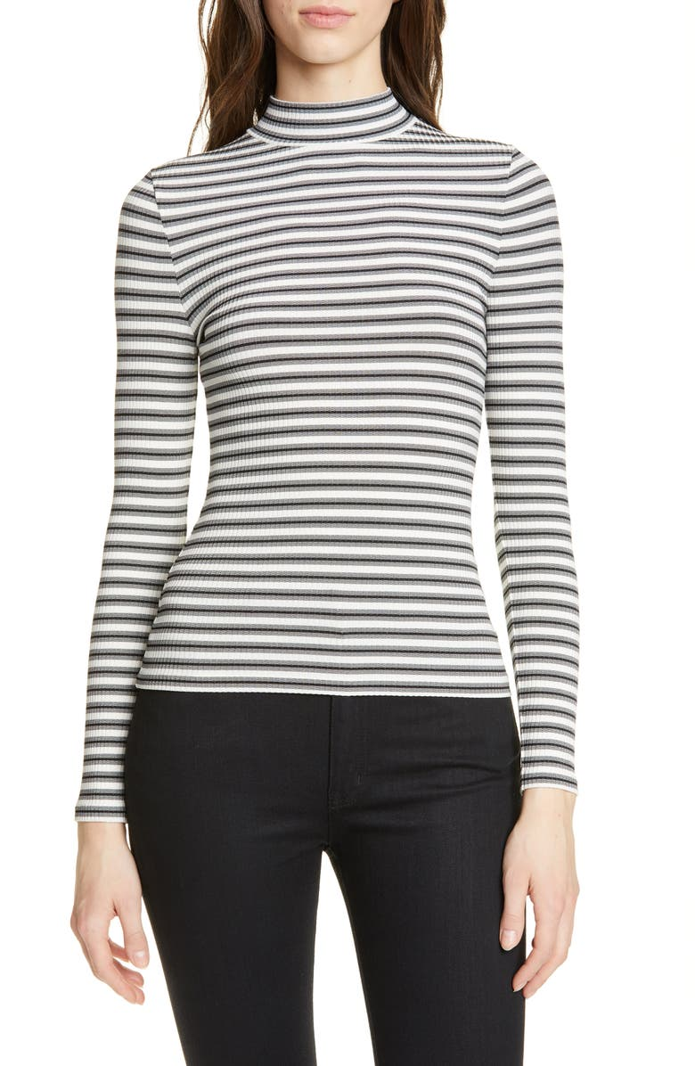 Karen Millen Tops STRIPE RIBBED JERSEY TOP