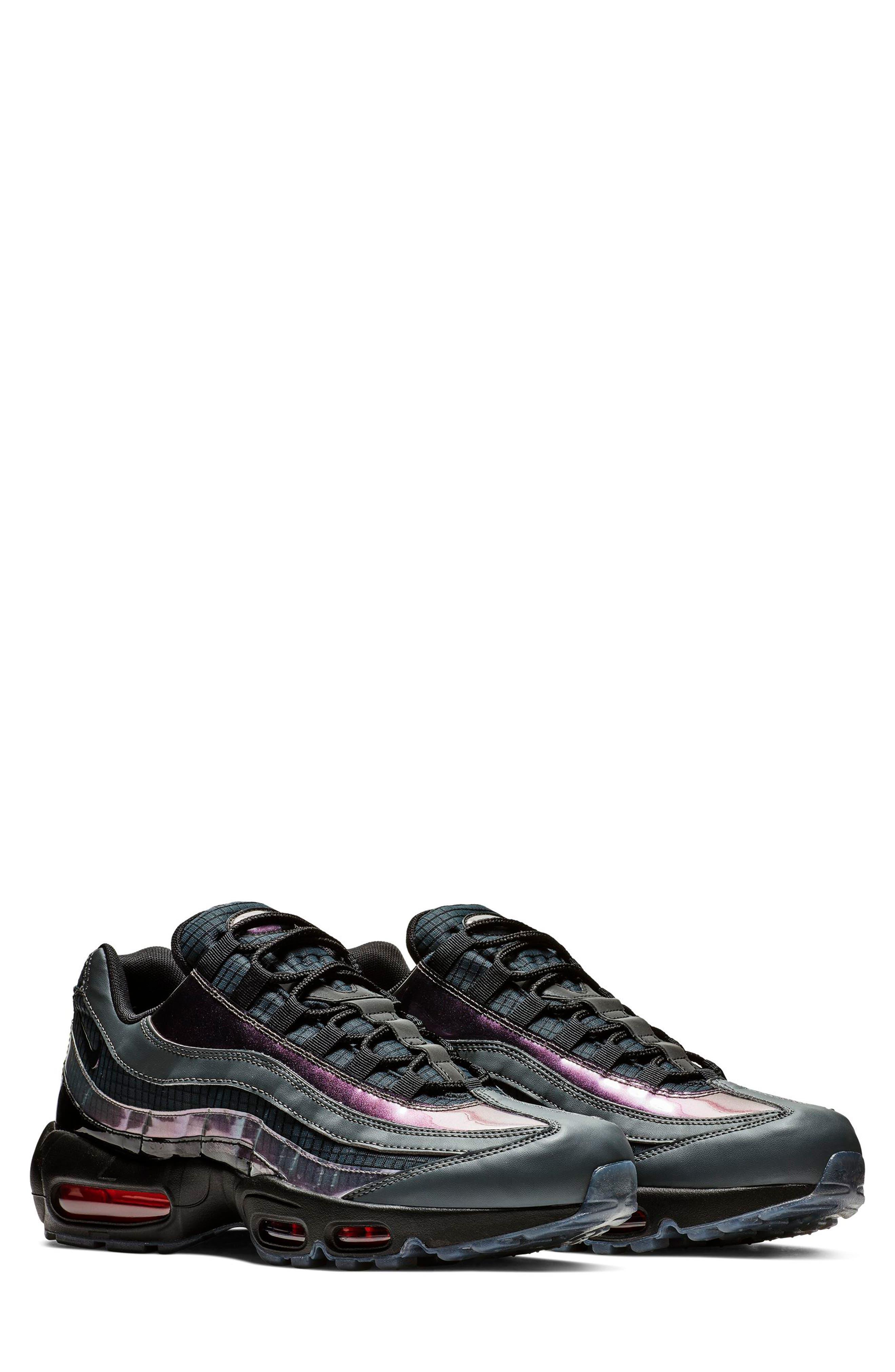 NIKE Air Max 95 LV8 Sneaker, Main, color, BLACK/ EMBER GLOW/ DARK GREY