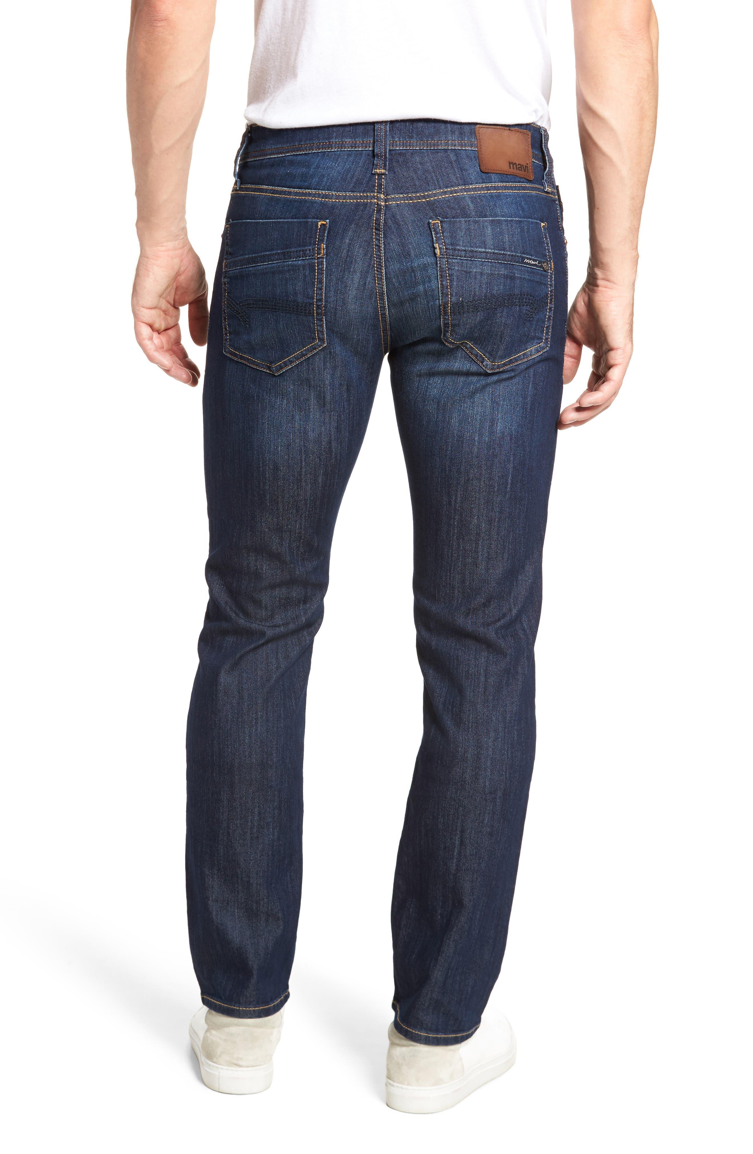MAVI JEANS, Zach Straight Leg Jeans, Alternate thumbnail 2, color, DARK MAUI