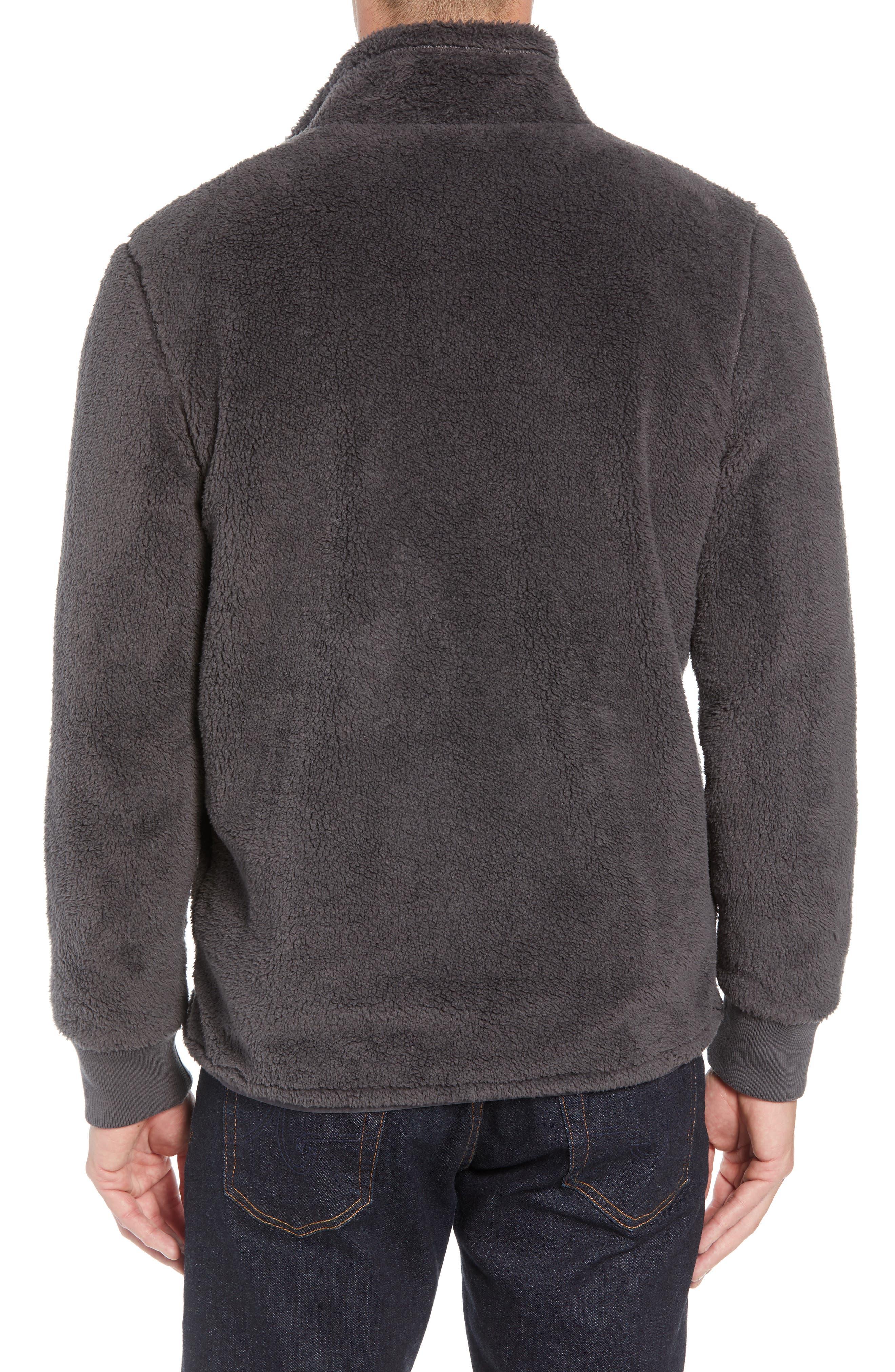 UGG<SUP>®</SUP>, Lucas High Pile Fleece Sweater Jacket, Alternate thumbnail 2, color, CHARCOAL