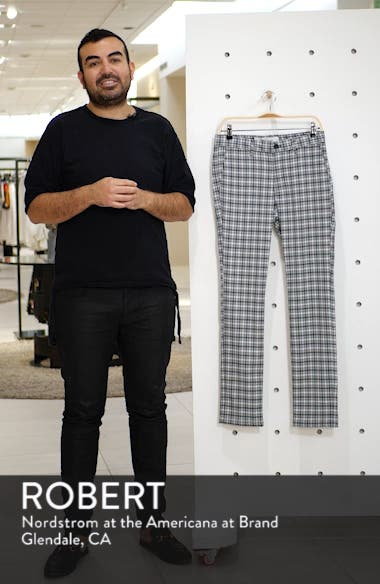 Check Stretch Skinny Fit Trousers, sales video thumbnail
