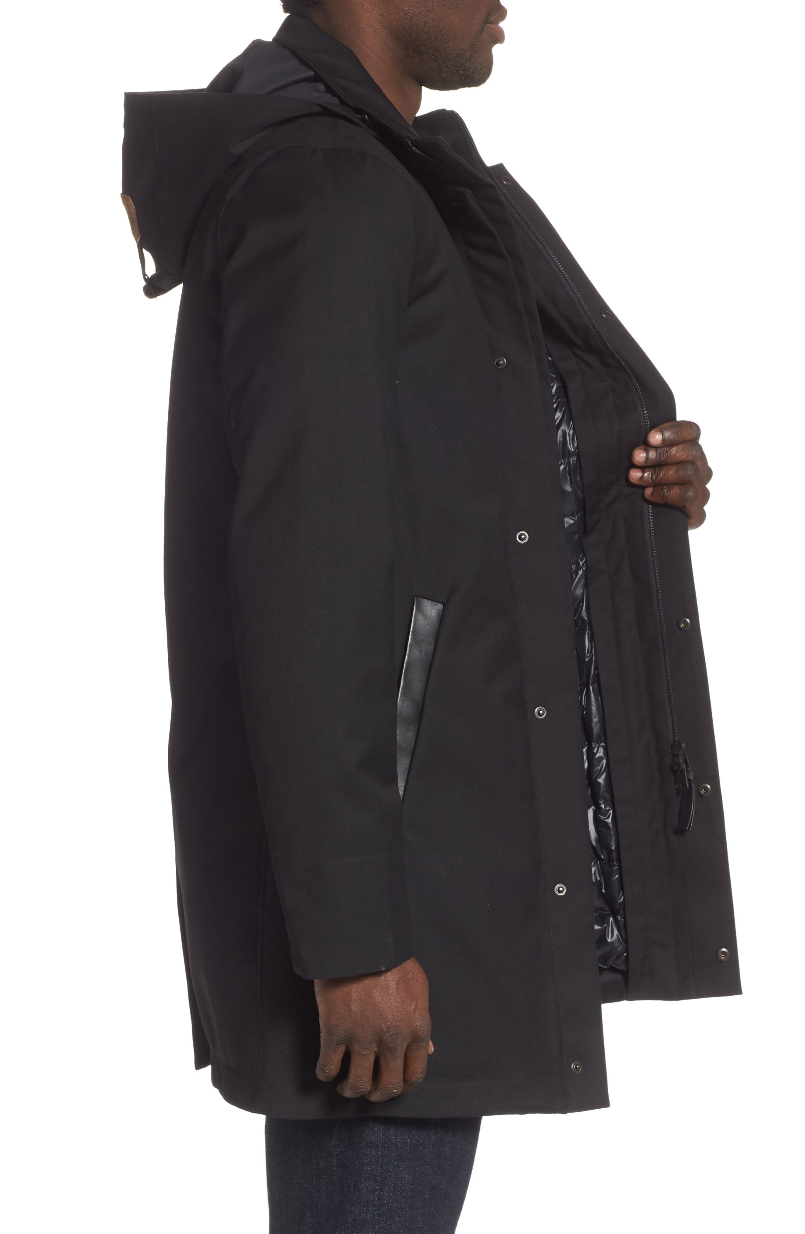 MACKAGE, Thorin-Z Jacket with Removable Down Lining, Alternate thumbnail 3, color, BLACK
