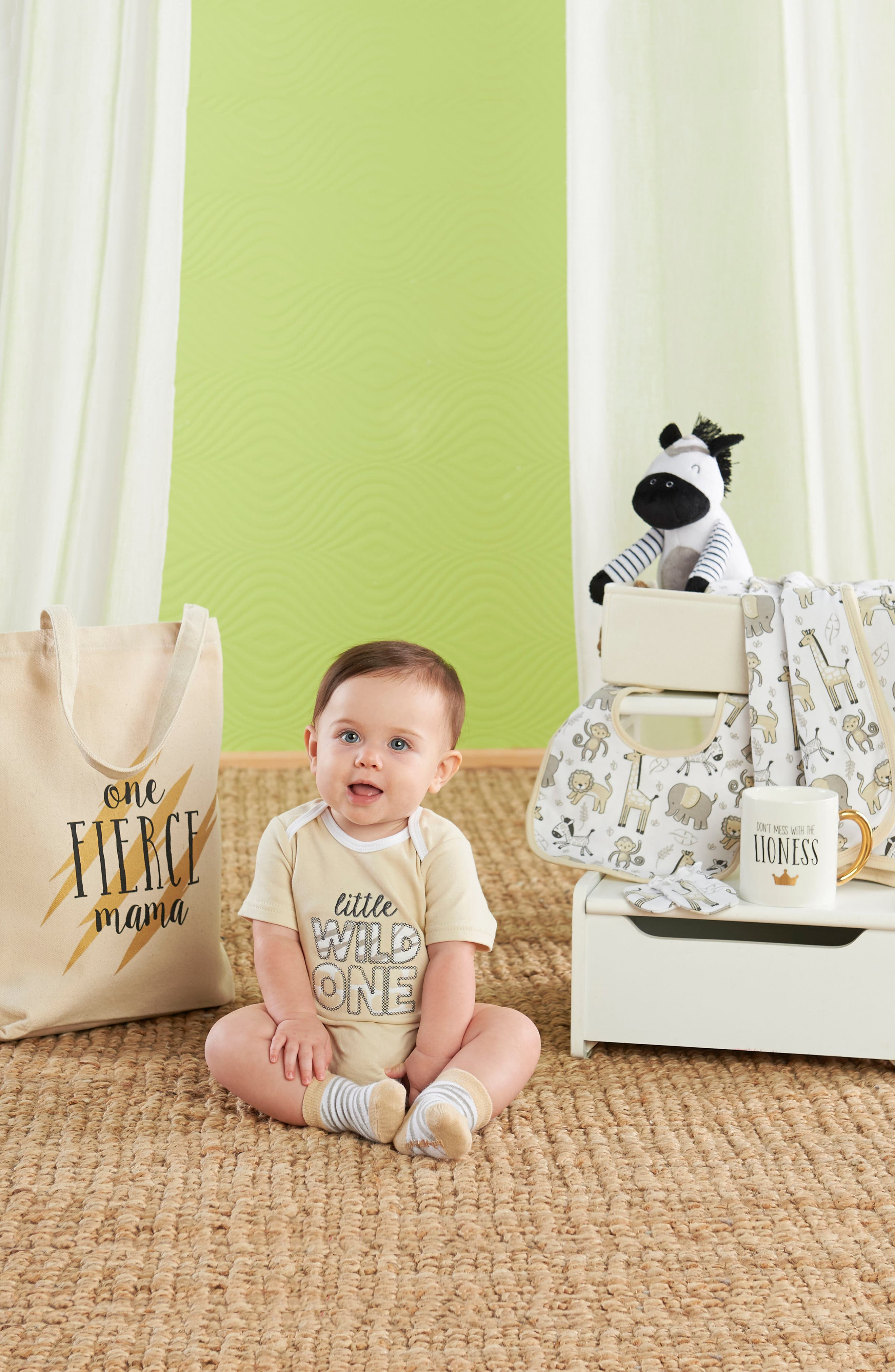 BABY ASPEN, Safari 9-Piece Baby Gift Set, Alternate thumbnail 3, color, BEIGE