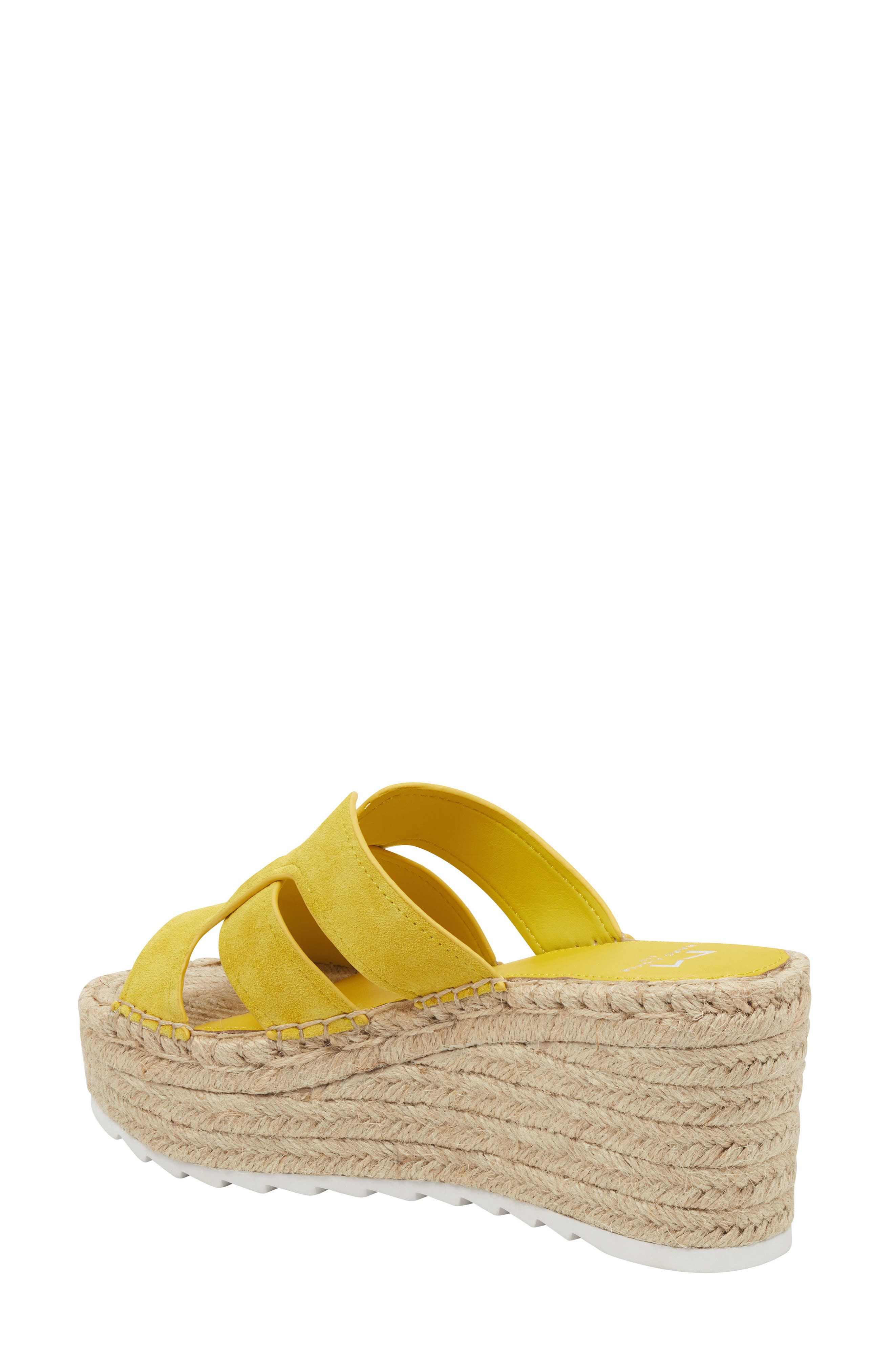 MARC FISHER LTD, Robbyn Espadrille Wedge Sandal, Alternate thumbnail 2, color, YELLOW SUEDE