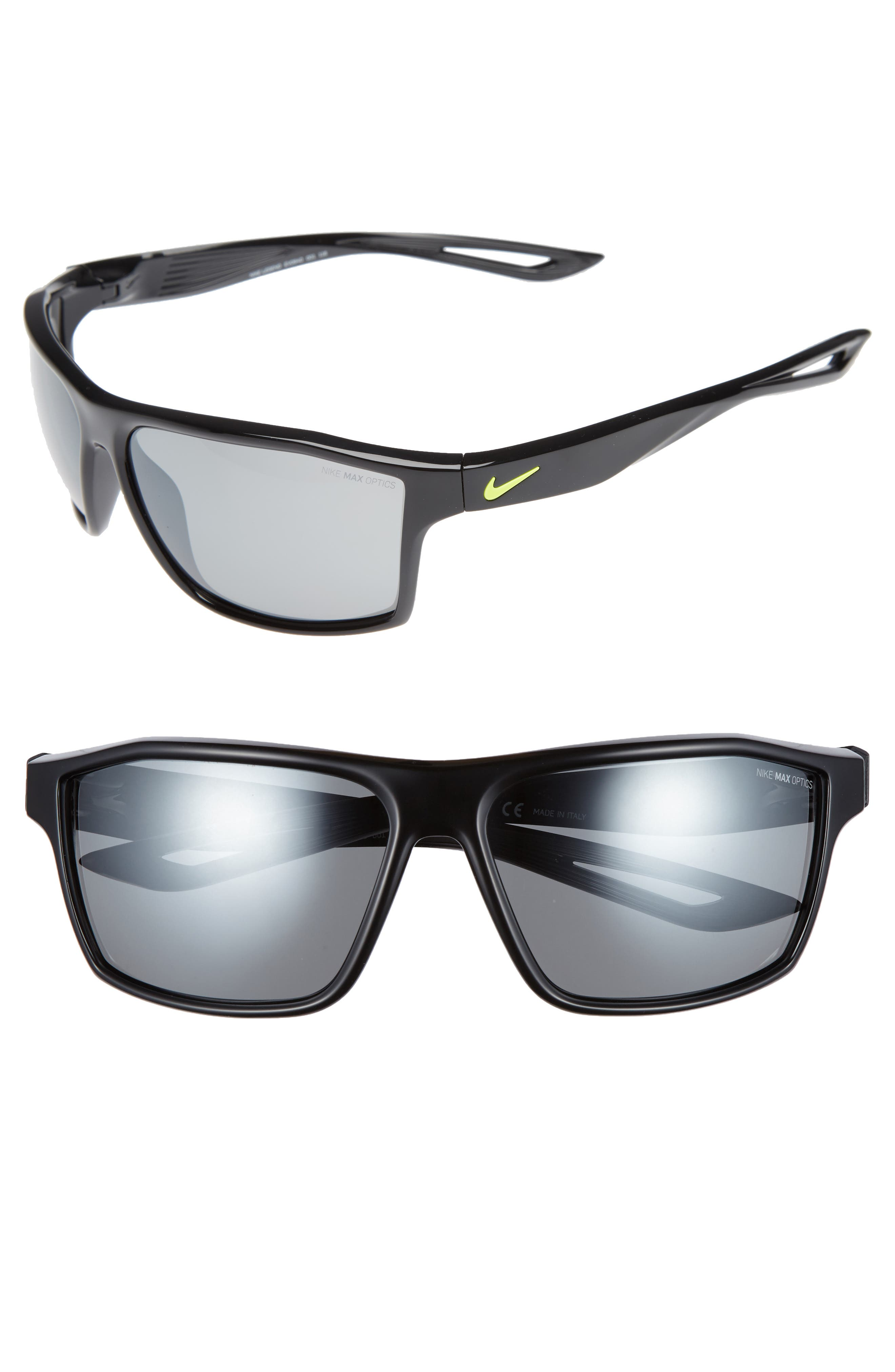 NIKE, Legend 65mm Multi-Sport Sunglasses, Main thumbnail 1, color, 001