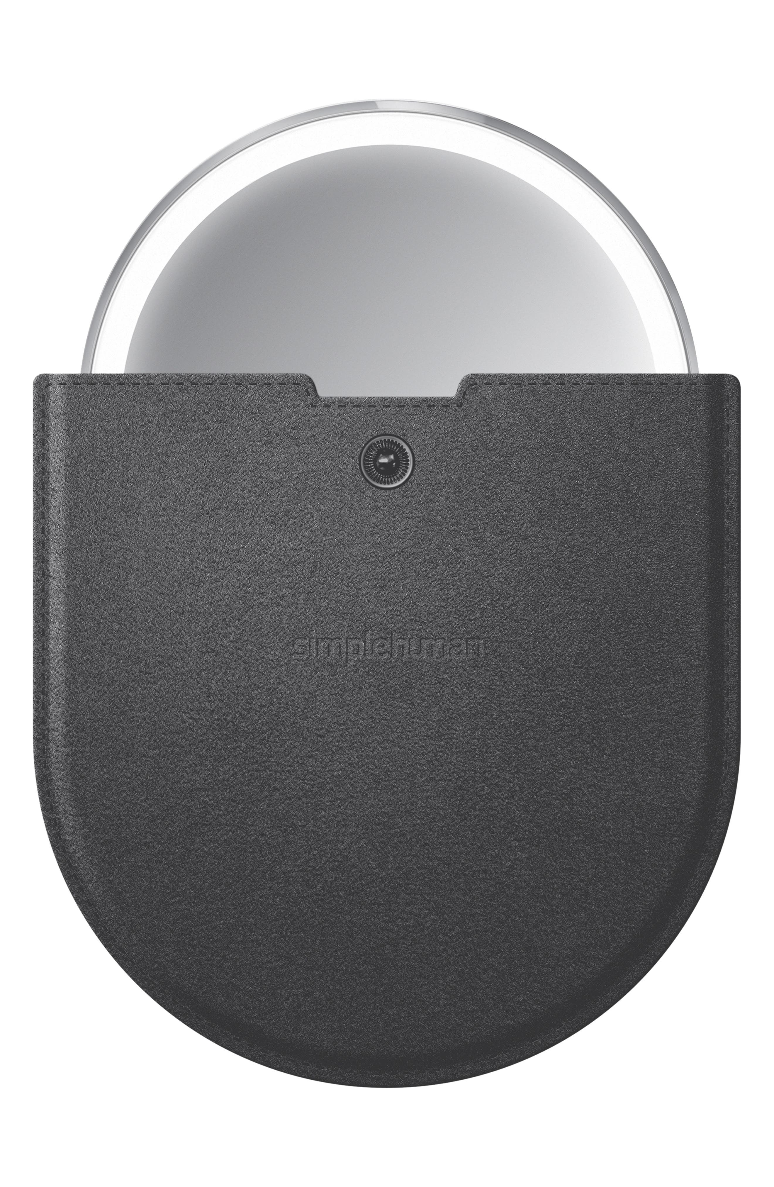 SIMPLEHUMAN, 4-Inch Sensor Mirror Compact, Alternate thumbnail 5, color, BLACK