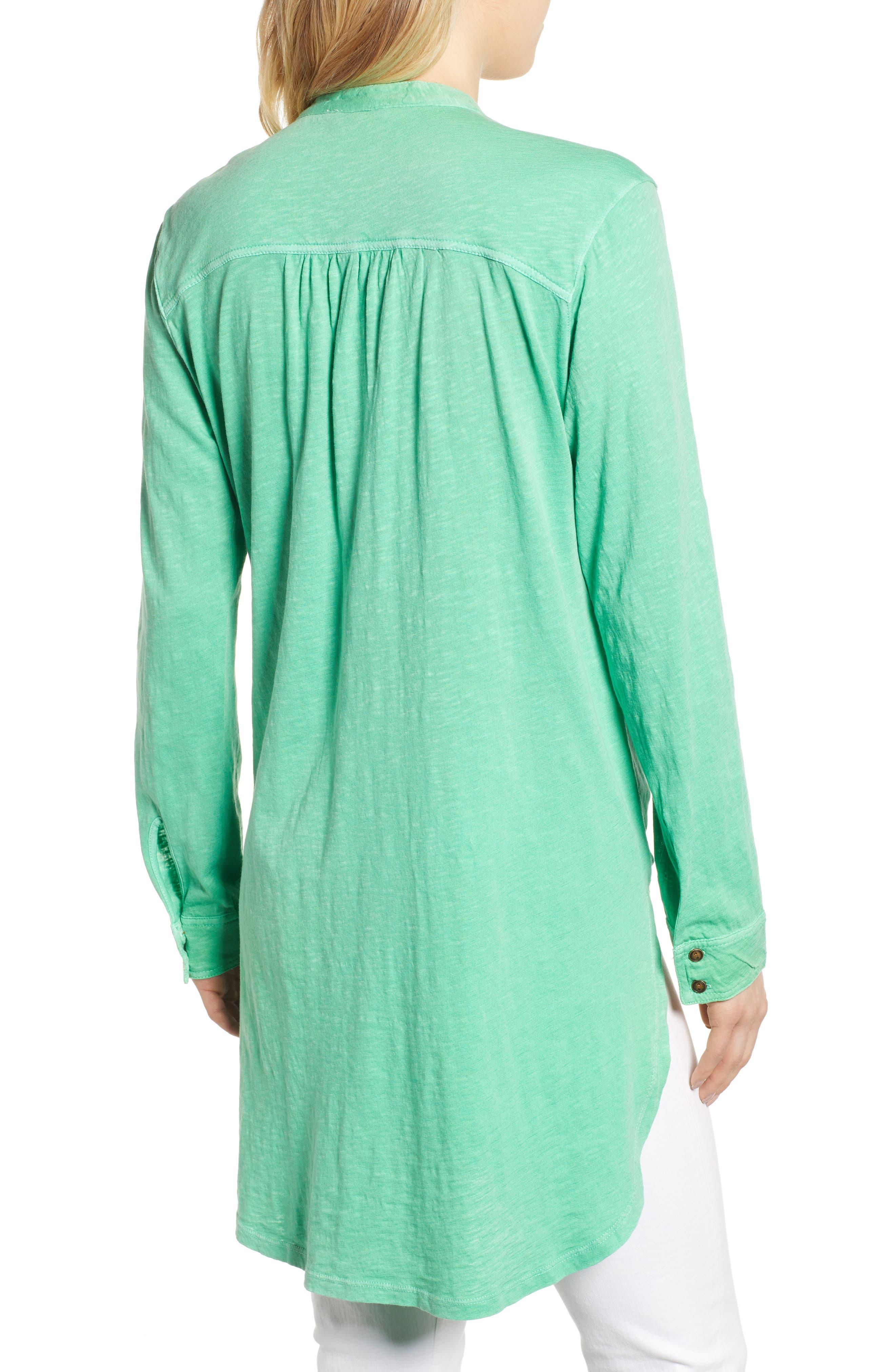 CASLON<SUP>®</SUP>, Button Down Knit Tunic, Alternate thumbnail 2, color, GREEN KATYDID