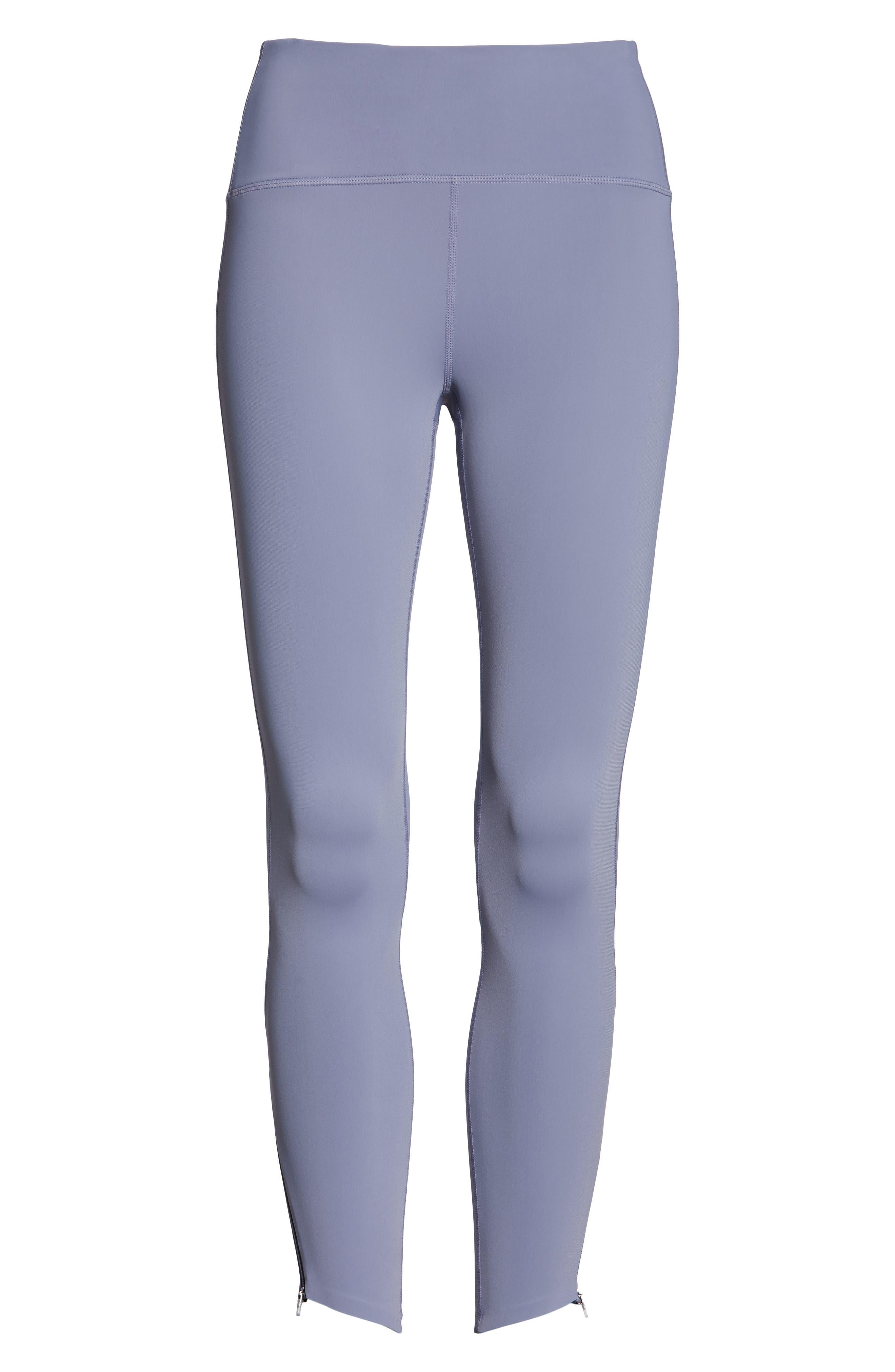 ZELLA, Luella Luxe High Waist 7/8 Leggings, Alternate thumbnail 7, color, GREY GRANITE