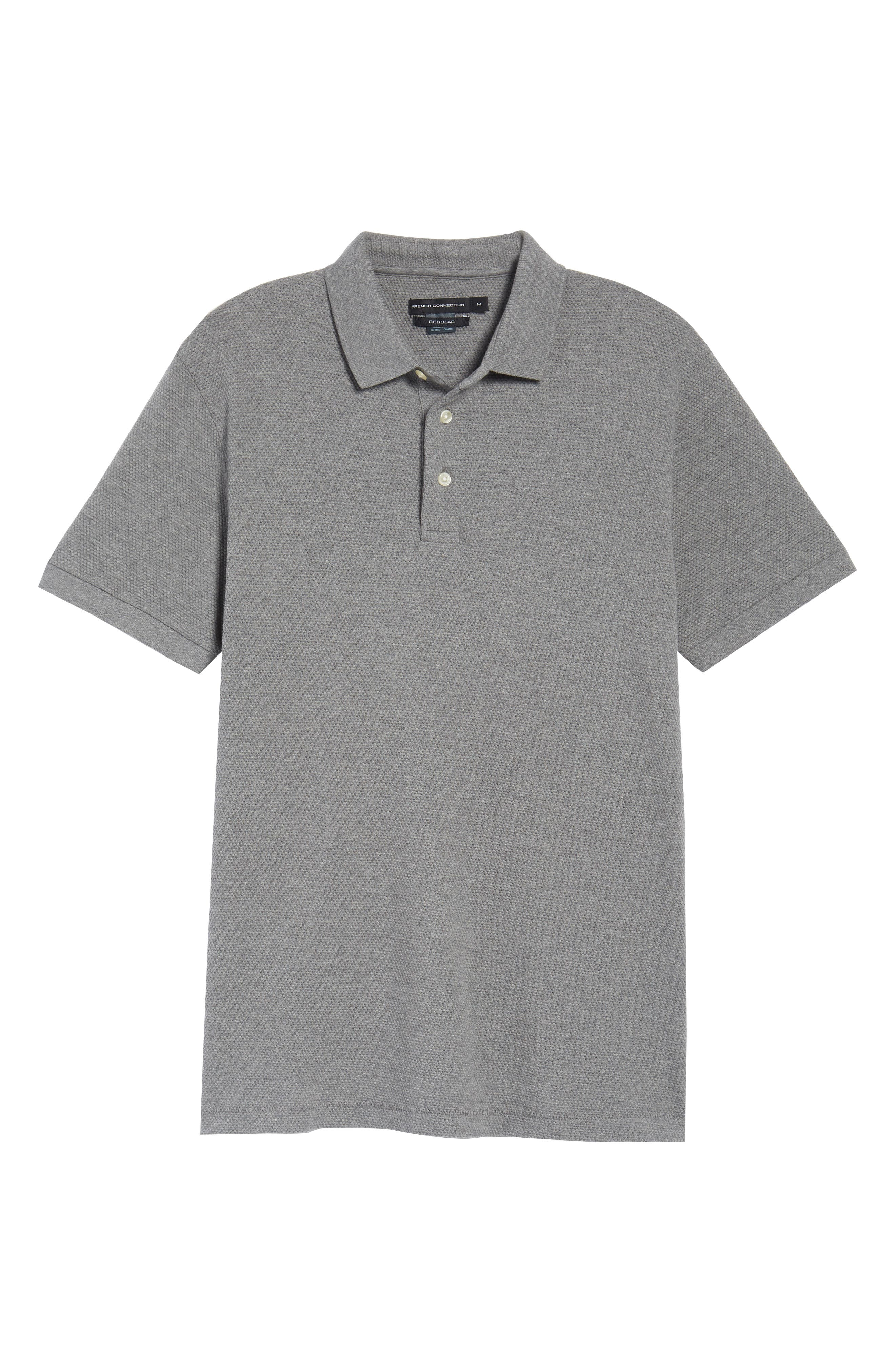 FRENCH CONNECTION, Ampthill Pebble Knit Polo, Alternate thumbnail 6, color, 020
