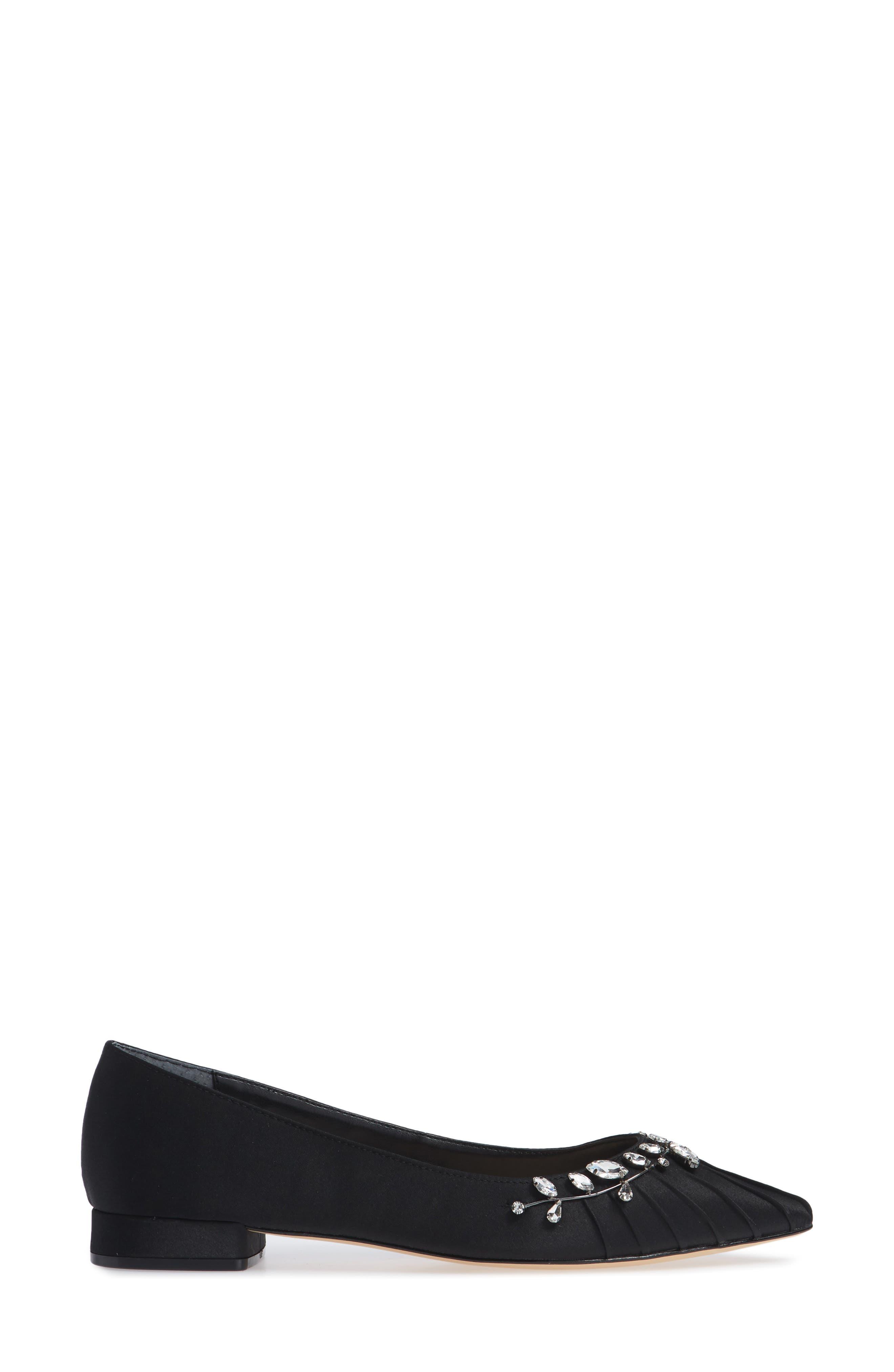 NINA, Zenida Jeweled Skimmer, Alternate thumbnail 3, color, BLACK SATIN