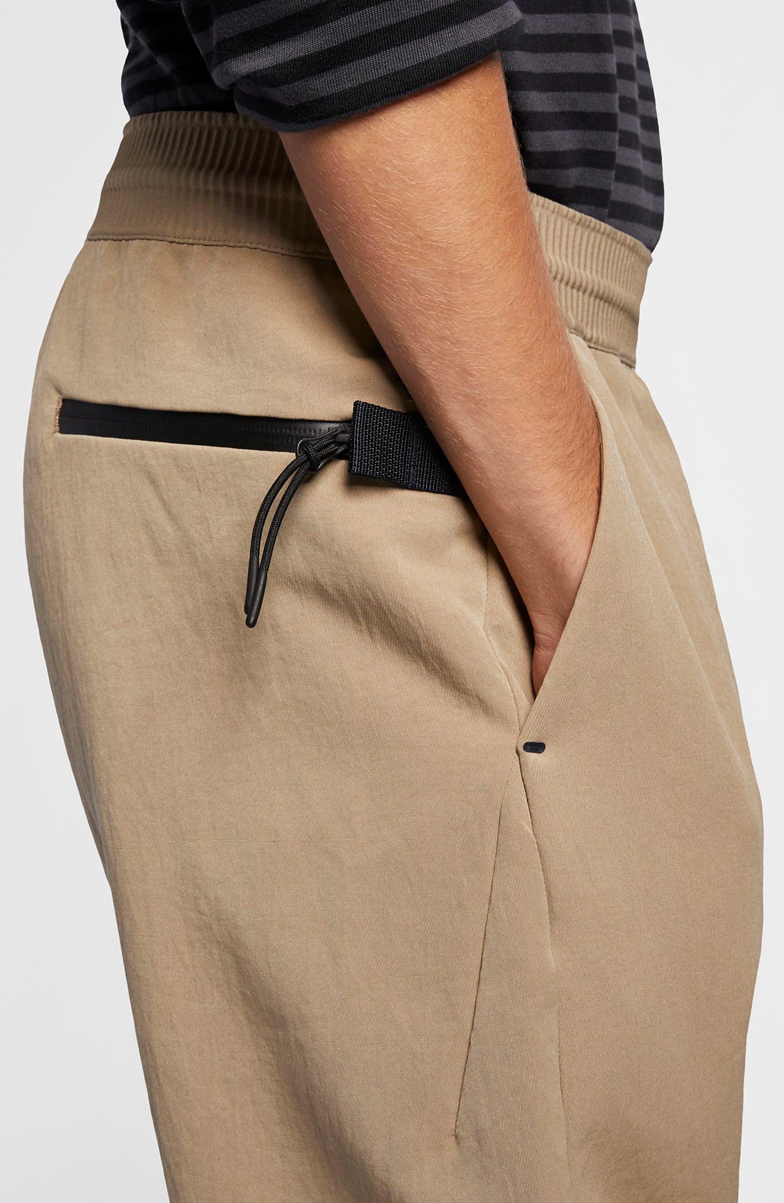 NIKE, Sportswear Tech Pack Men's Crop Woven Pants, Alternate thumbnail 5, color, KHAKI/ KHAKI/ BLACK