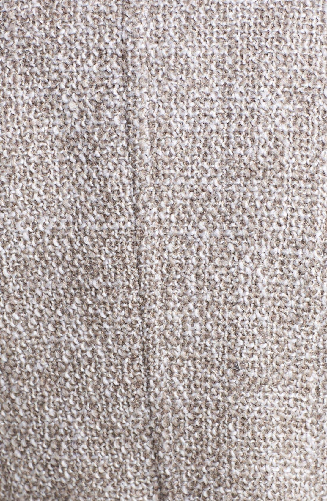 T TAHARI, 'Izzy' Belted Tweed Coat, Alternate thumbnail 2, color, 200