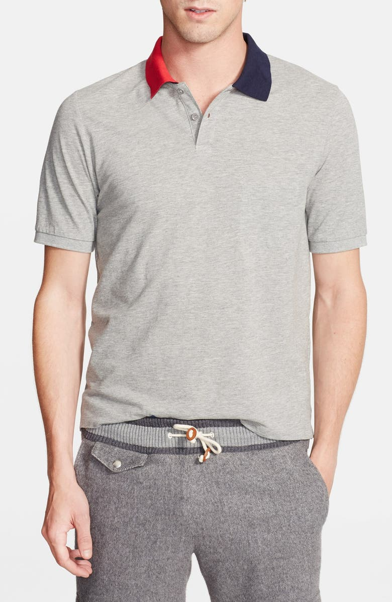 BAND OF OUTSIDERS Two Tone Collar Polo Main Color 025