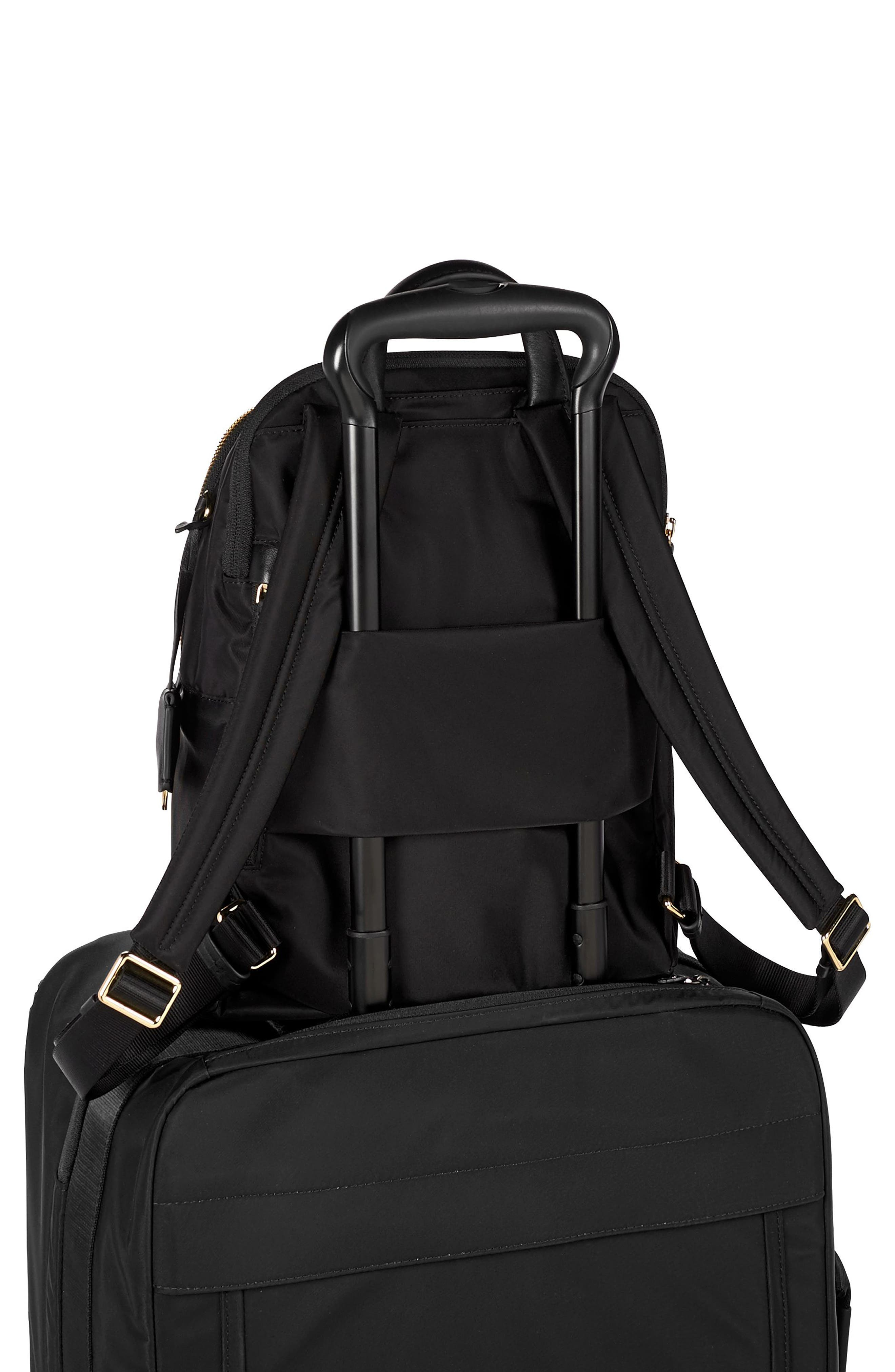 TUMI, Voyageur Dori Nylon Backpack, Alternate thumbnail 6, color, BLACK