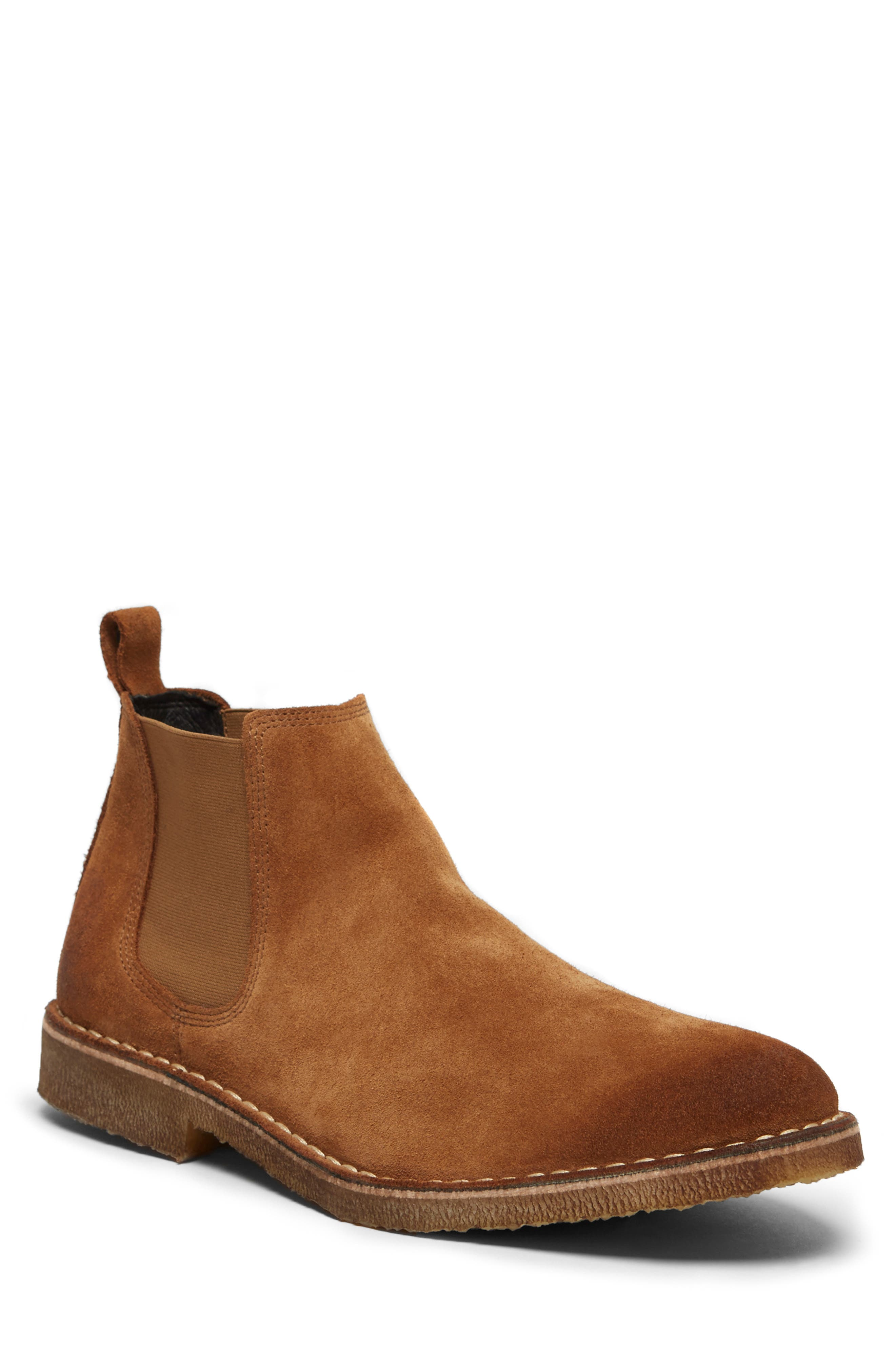 KENNETH COLE NEW YORK, Hewitt Chelsea Boot, Main thumbnail 1, color, RUST SUEDE