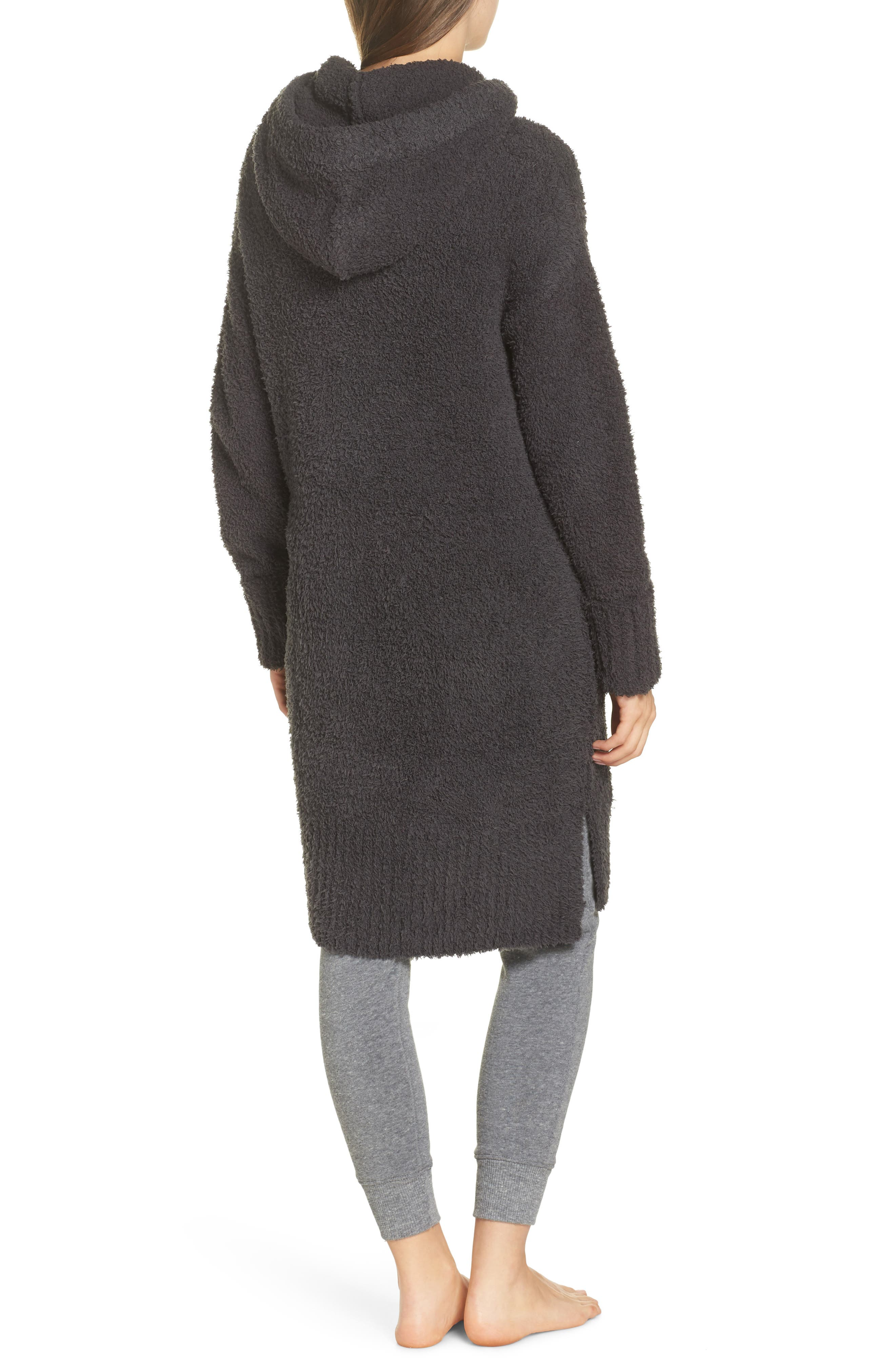 BAREFOOT DREAMS<SUP>®</SUP>, CozyChic<sup>®</sup> Nor-Cal Lounge Coat, Alternate thumbnail 2, color, CARBON