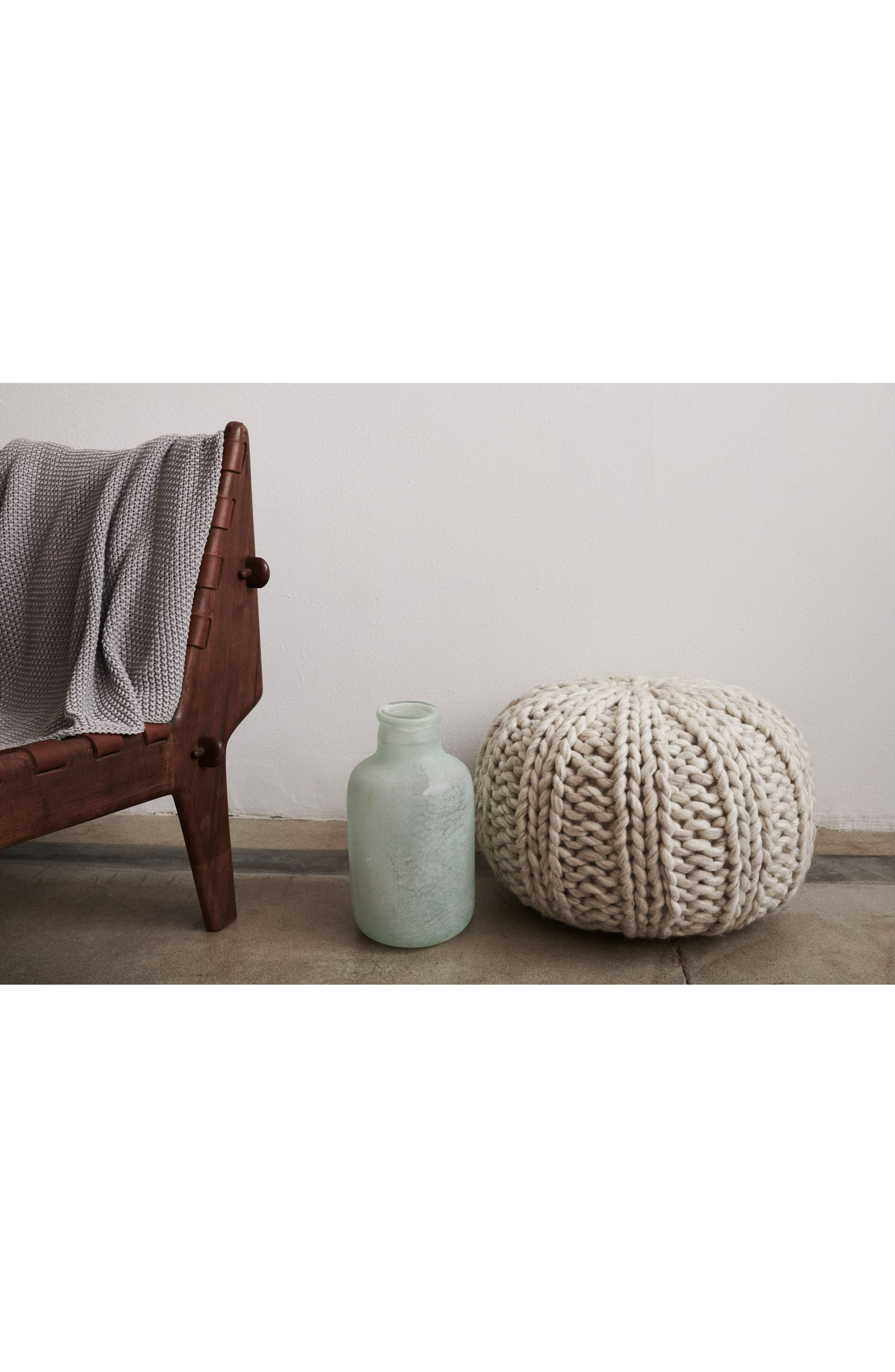 TREASURE & BOND, Chunky Knit Pouf, Alternate thumbnail 3, color, IVORY
