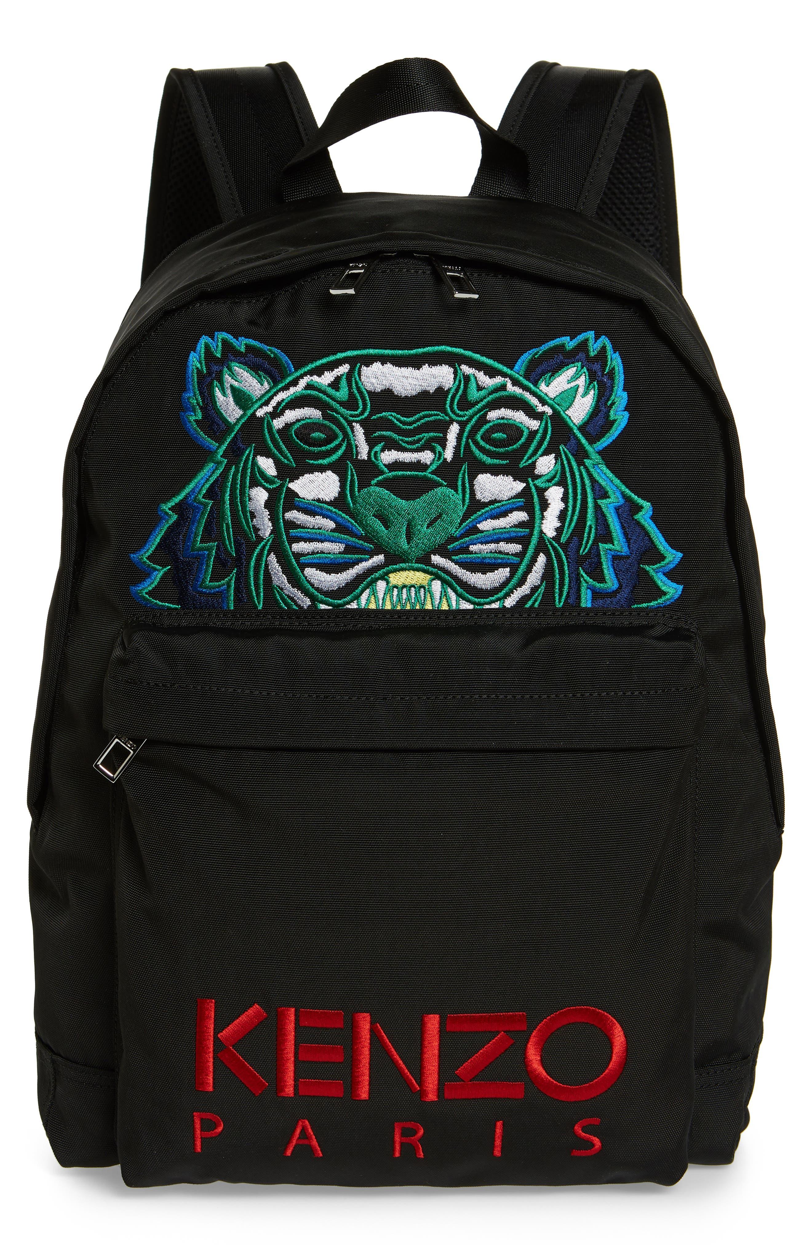 KENZO, Tiger Backpack, Main thumbnail 1, color, BLACK