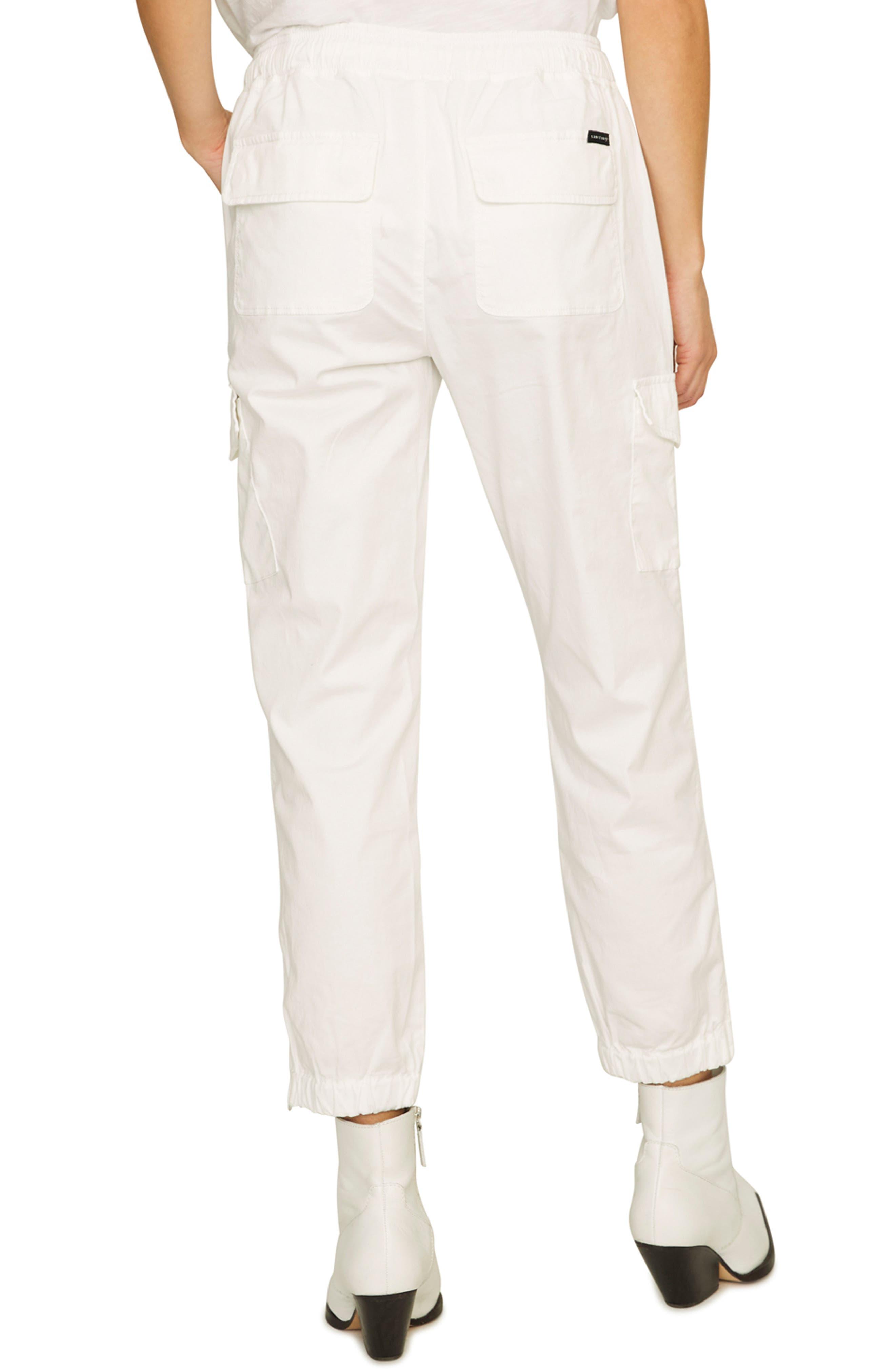 SANCTUARY, Drawstring Trooper Pants, Alternate thumbnail 2, color, BRITE WHITE