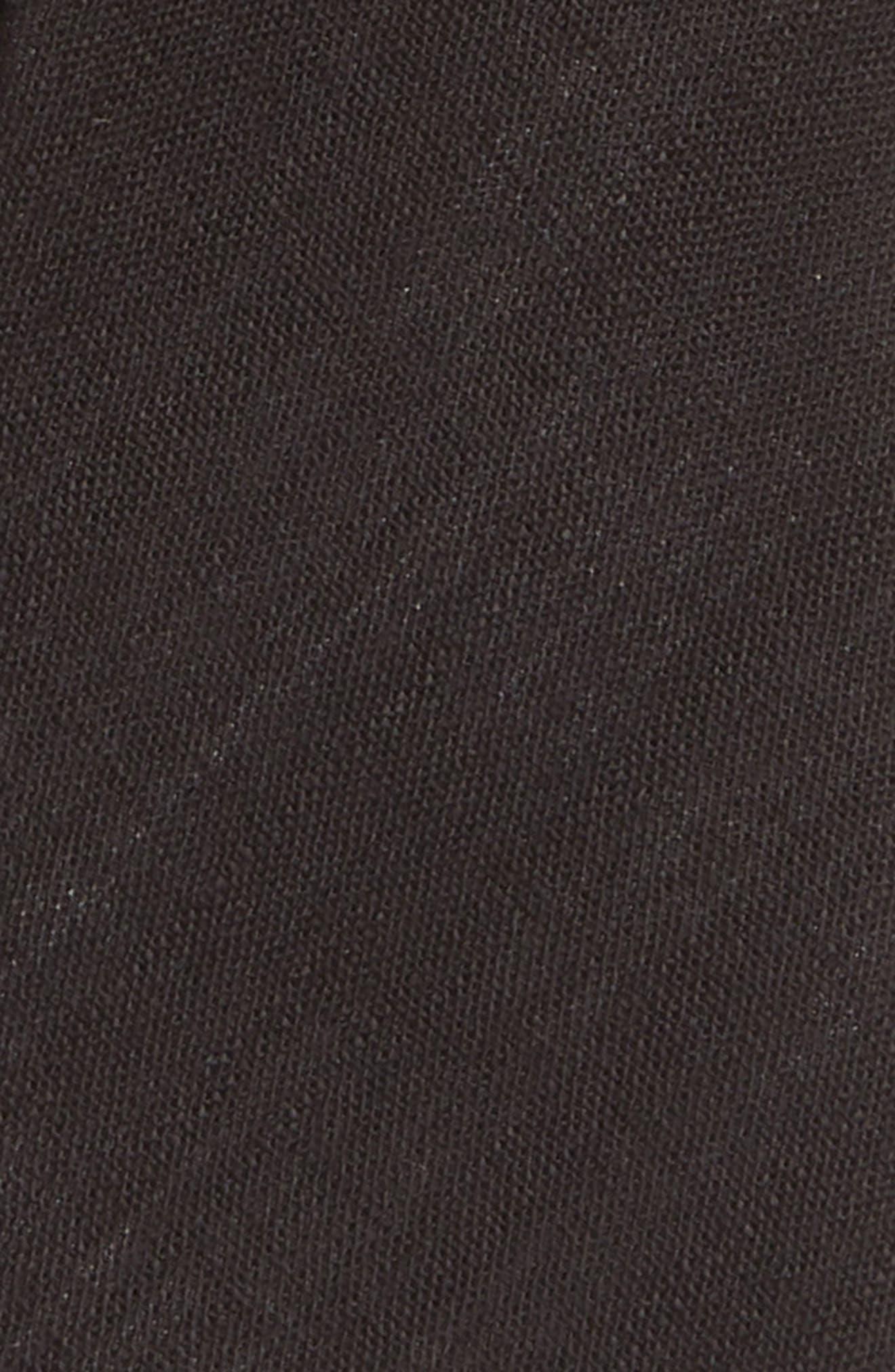 NORDSTROM, Solid Tie, Alternate thumbnail 2, color, BLACK