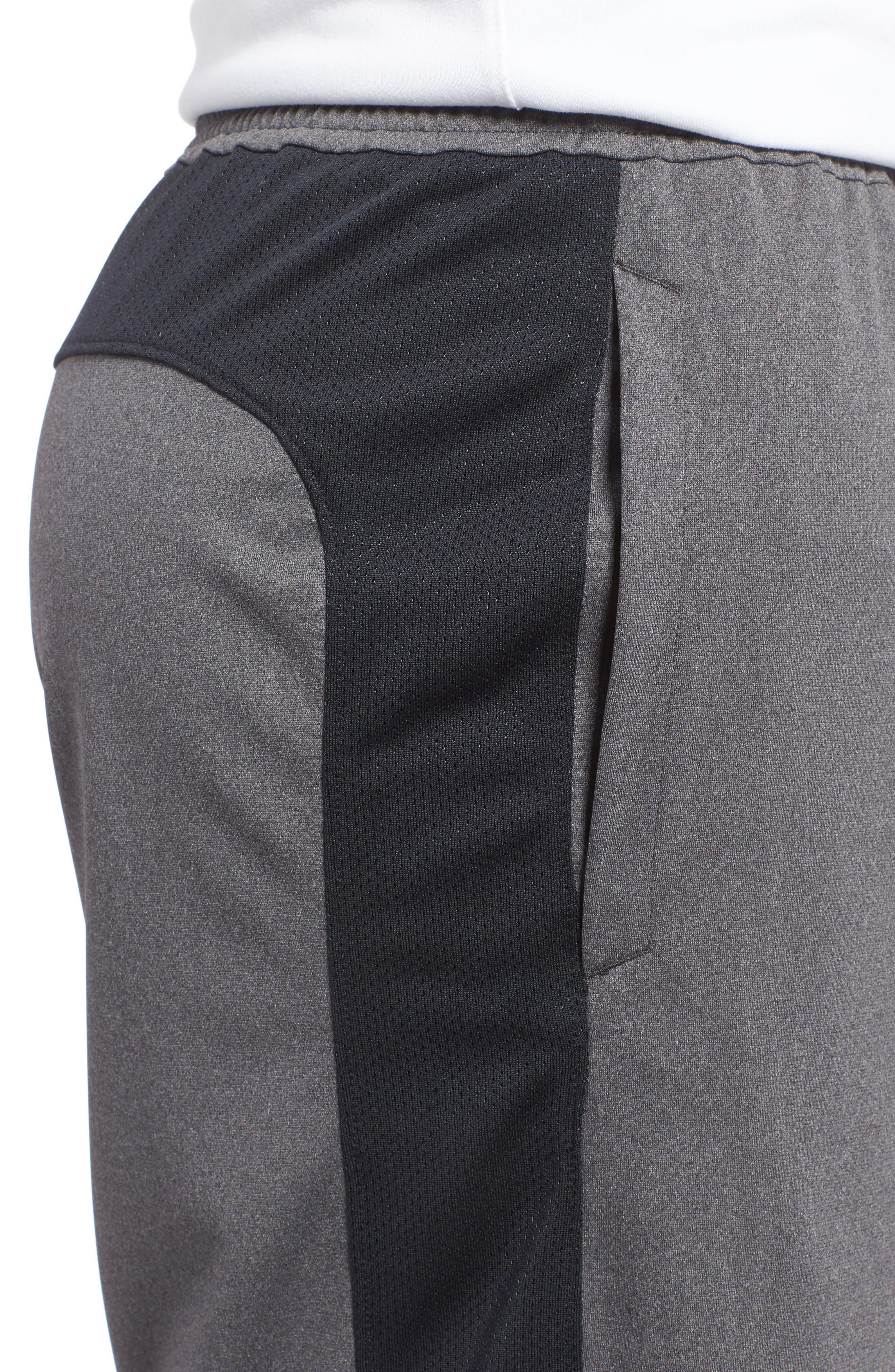 UNDER ARMOUR, Raid 2.0 Classic Fit Shorts, Alternate thumbnail 5, color, GRAPHITE / BLACK